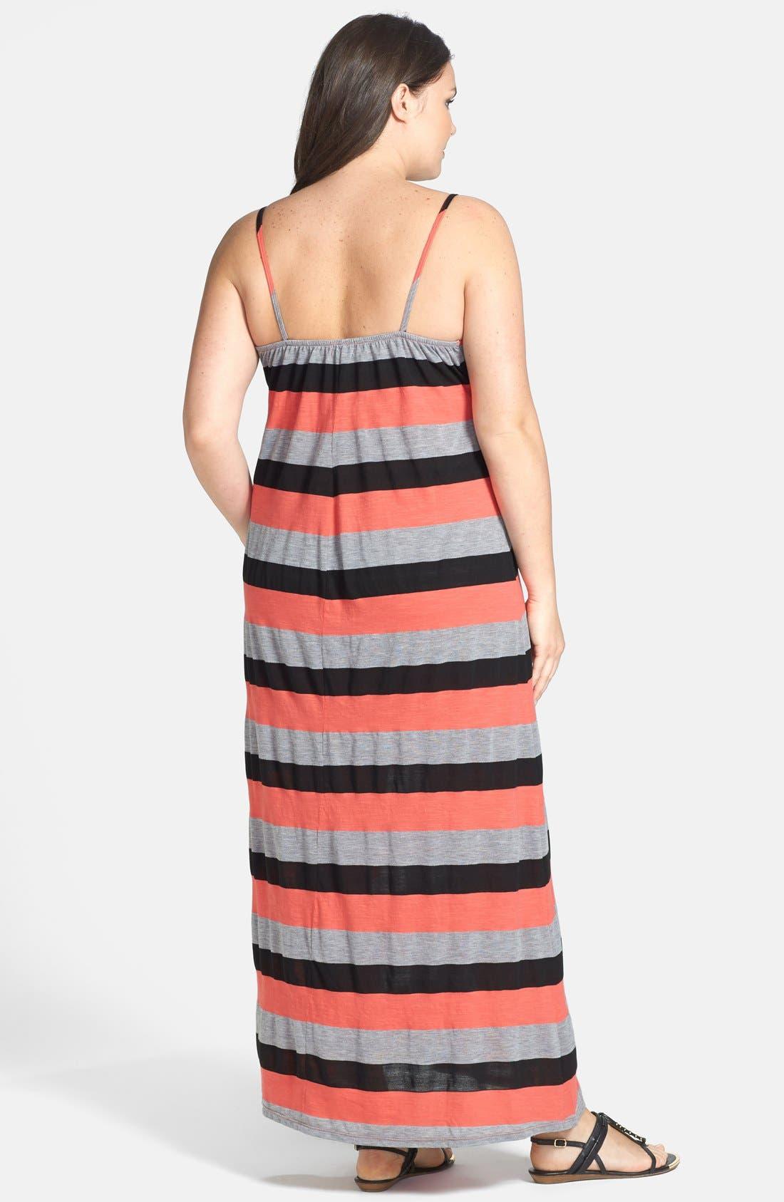 Alternate Image 2  - Allen Allen Stripe Tank Maxi Dress (Plus Size)
