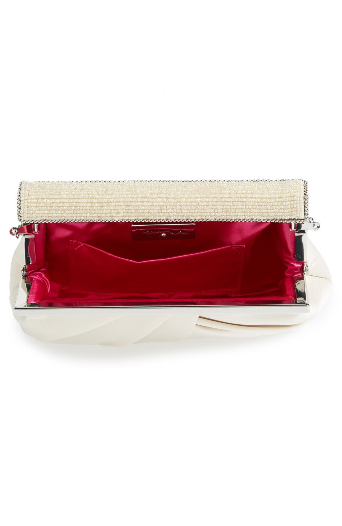 Alternate Image 3  - Nina 'Lendy' Satin Frame Clutch