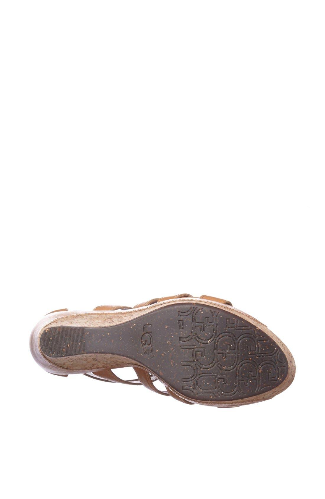 Alternate Image 4  - UGG® Australia 'Dillion' Wedge Sandal