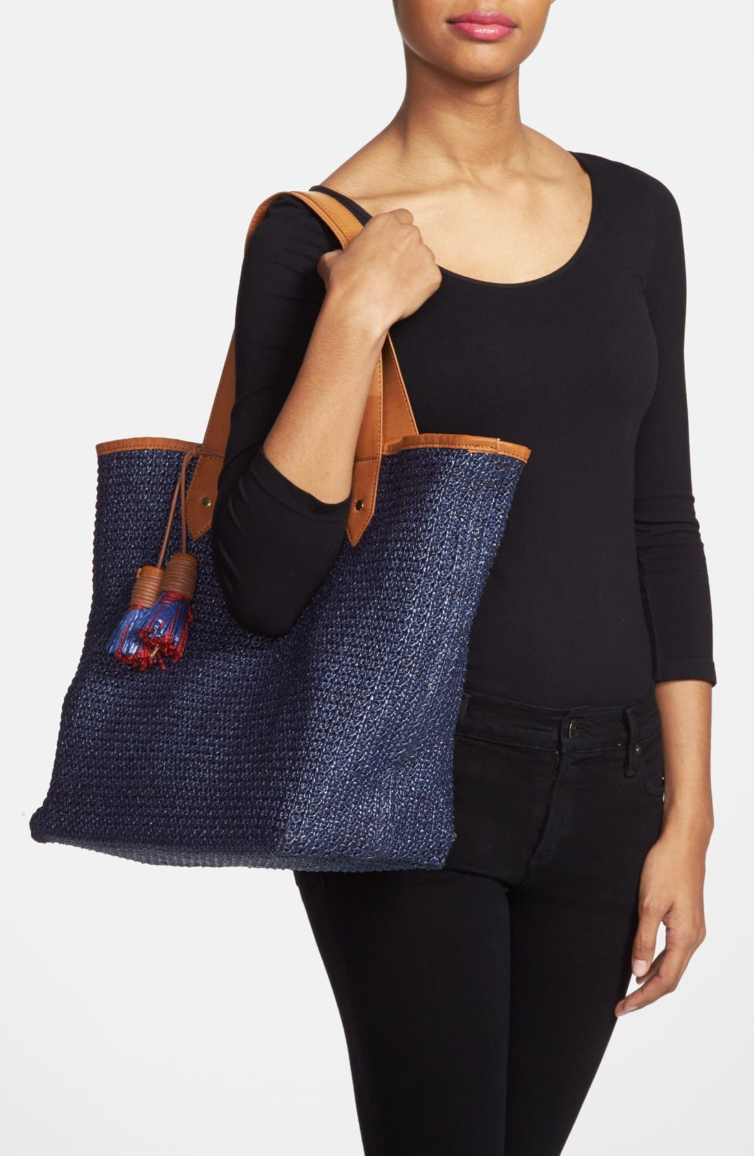Alternate Image 2  - Steven by Steve Madden 'Bcabo' Straw Tote