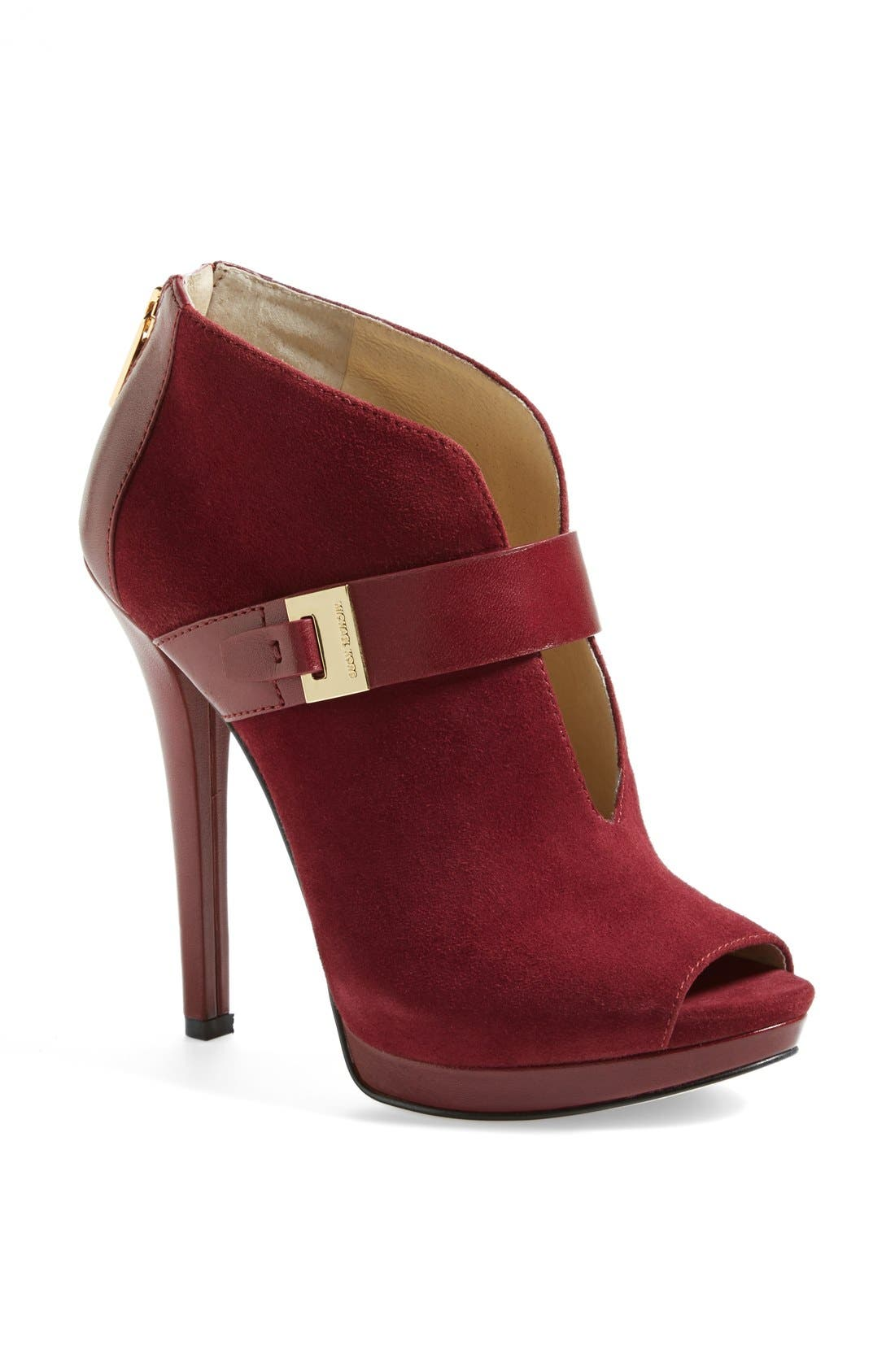 Alternate Image 1 Selected - MICHAEL Michael Kors 'Guiliana' Peep Toe Bootie (Women)