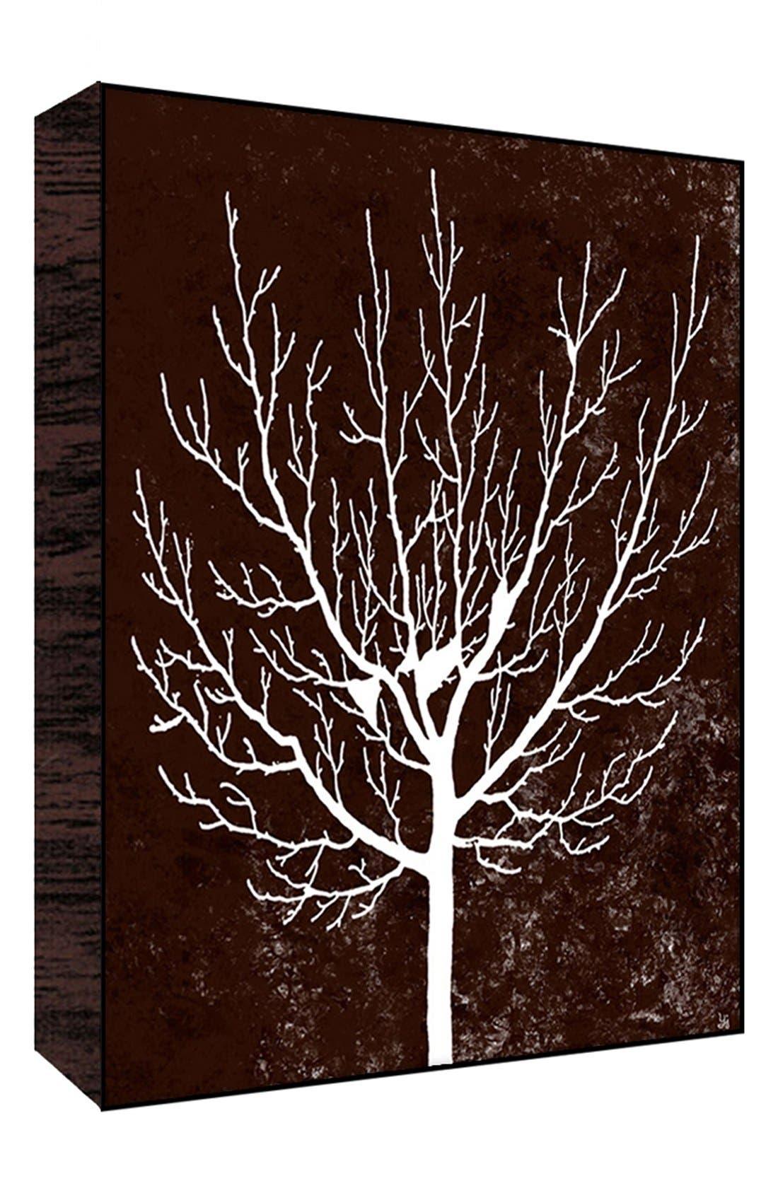 Alternate Image 1 Selected - Green Leaf Art 'Winter Tree on Brown II' Wall Art