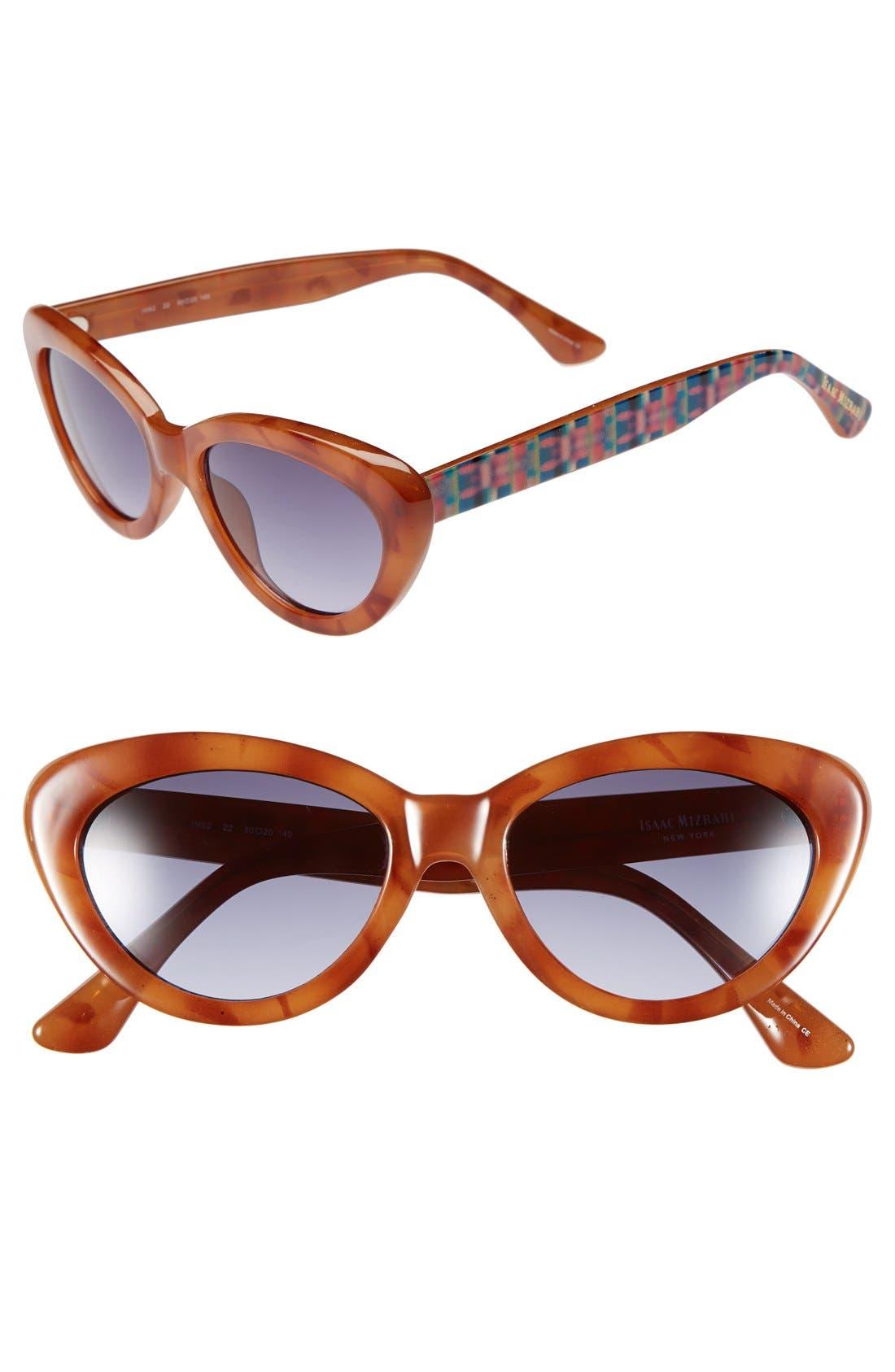 Main Image - Isaac Mizrahi New York 50mm Cat Eye Sunglasses