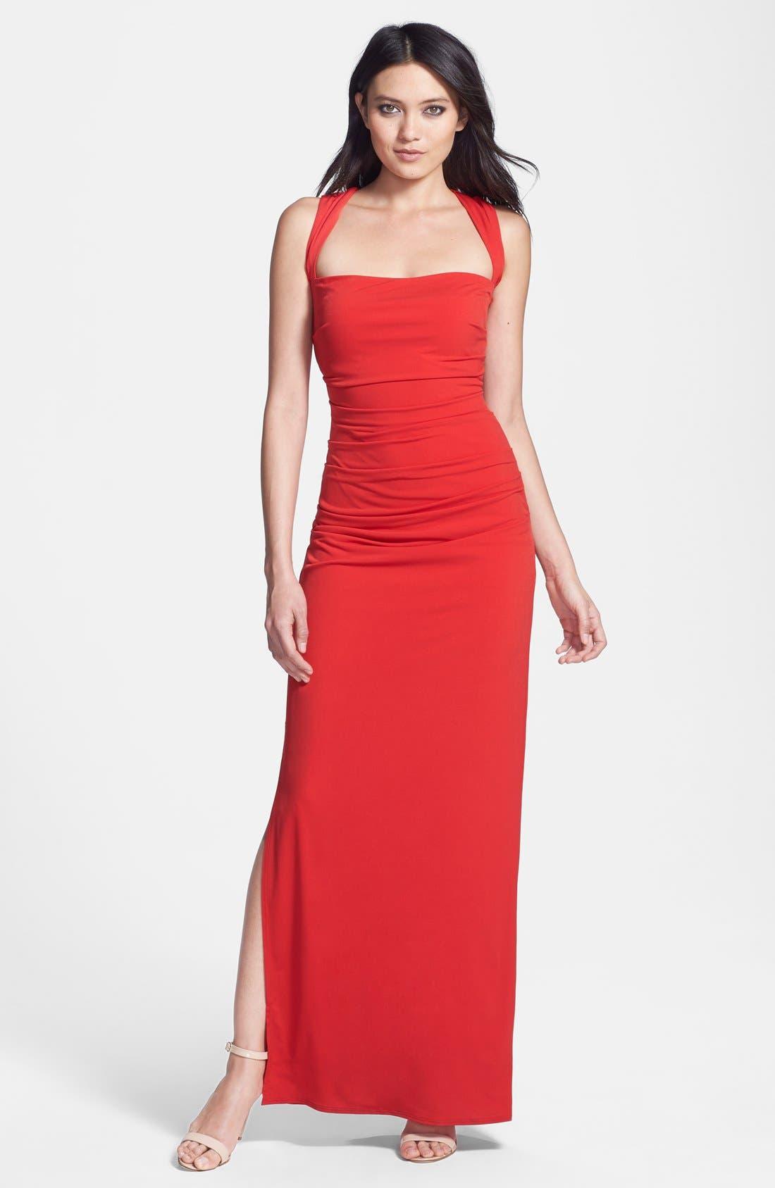 Alternate Image 1 Selected - Laundry by Shelli Segal Cross Back Jersey Dress