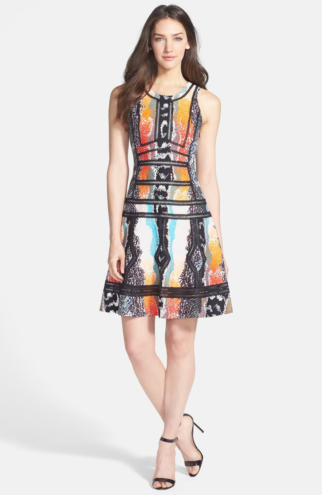 Alternate Image 1 Selected - Diane von Furstenberg 'Margot' Print Woven A-Line Dress