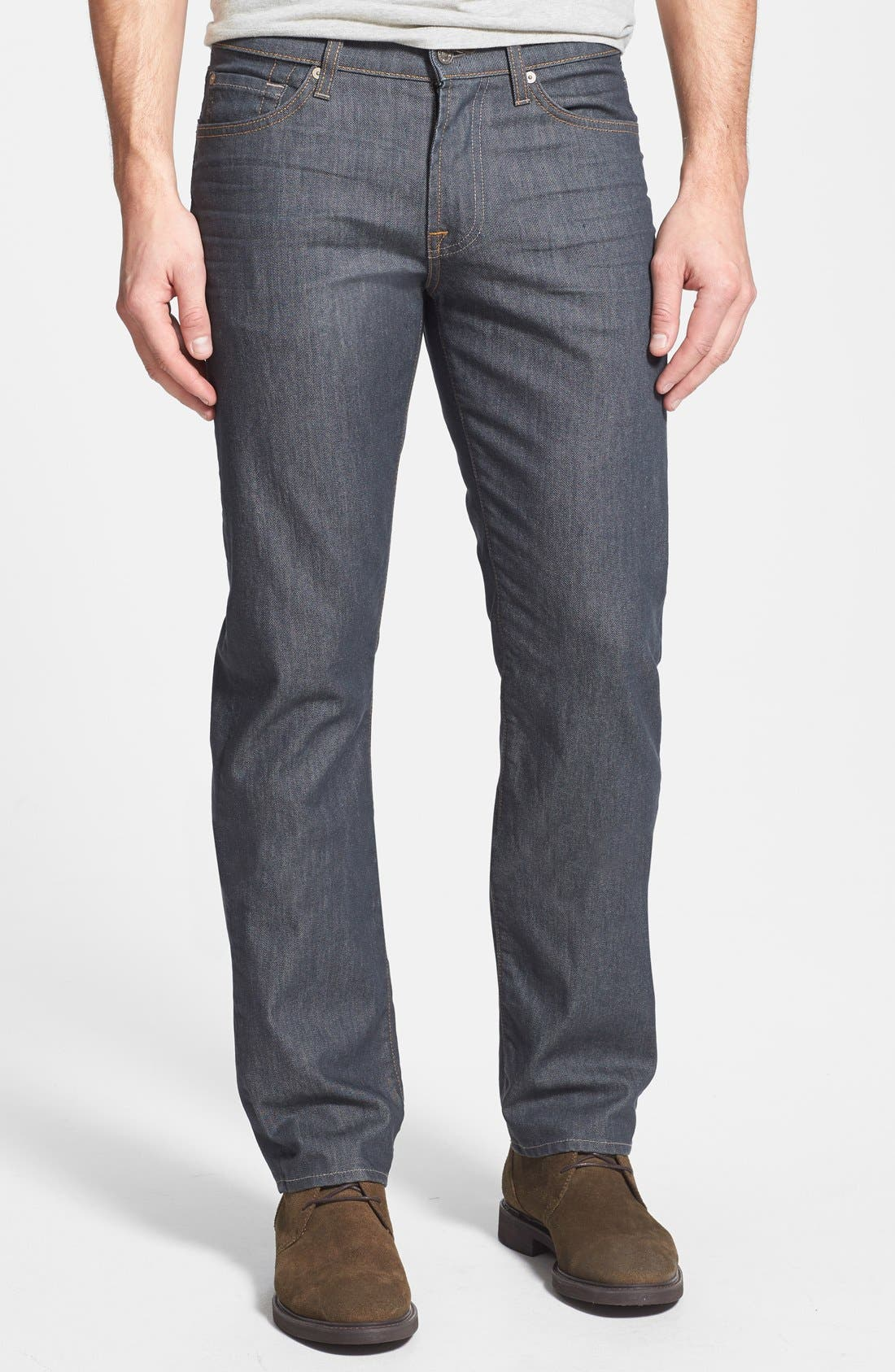 Alternate Image 1 Selected - 7 For All Mankind® 'Slimmy' Slim Straight Leg Jeans (Summer Haze)