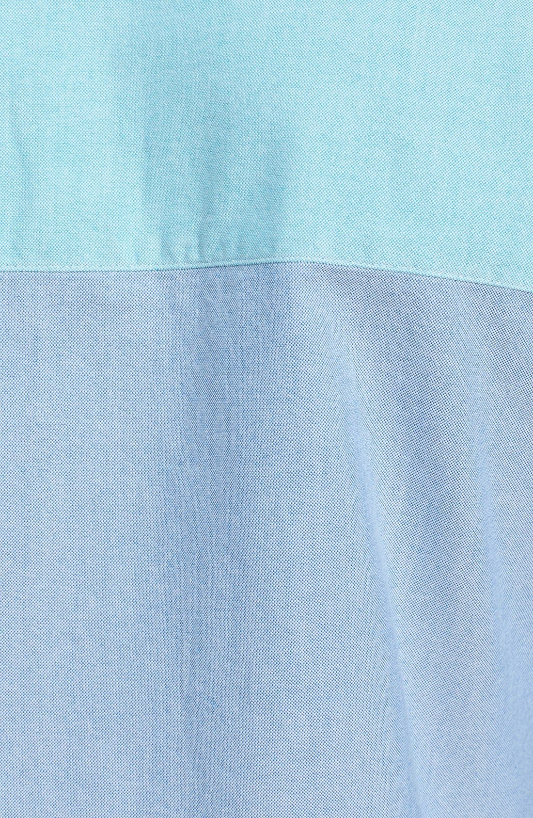 Alternate Image 3  - Bonobos Slim Fit Colorblock Oxford Sport Shirt
