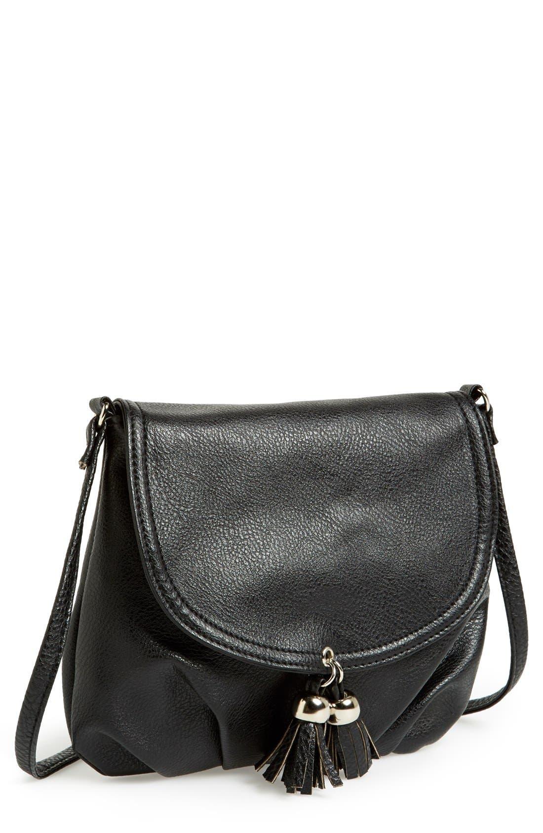 Alternate Image 1 Selected - Amici Accessories Tassel Crossbody Bag (Juniors)