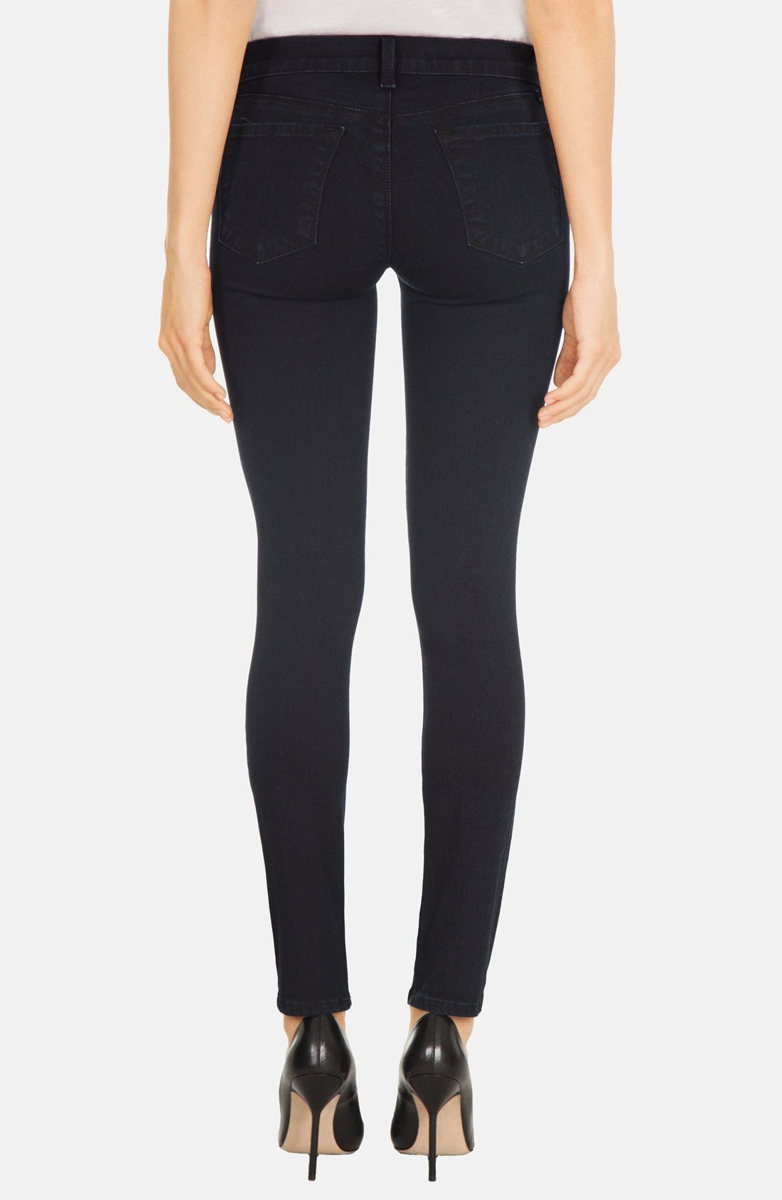 Alternate Image 2  - J Brand Skinny Stretch Denim Jeans (Blue Bird)