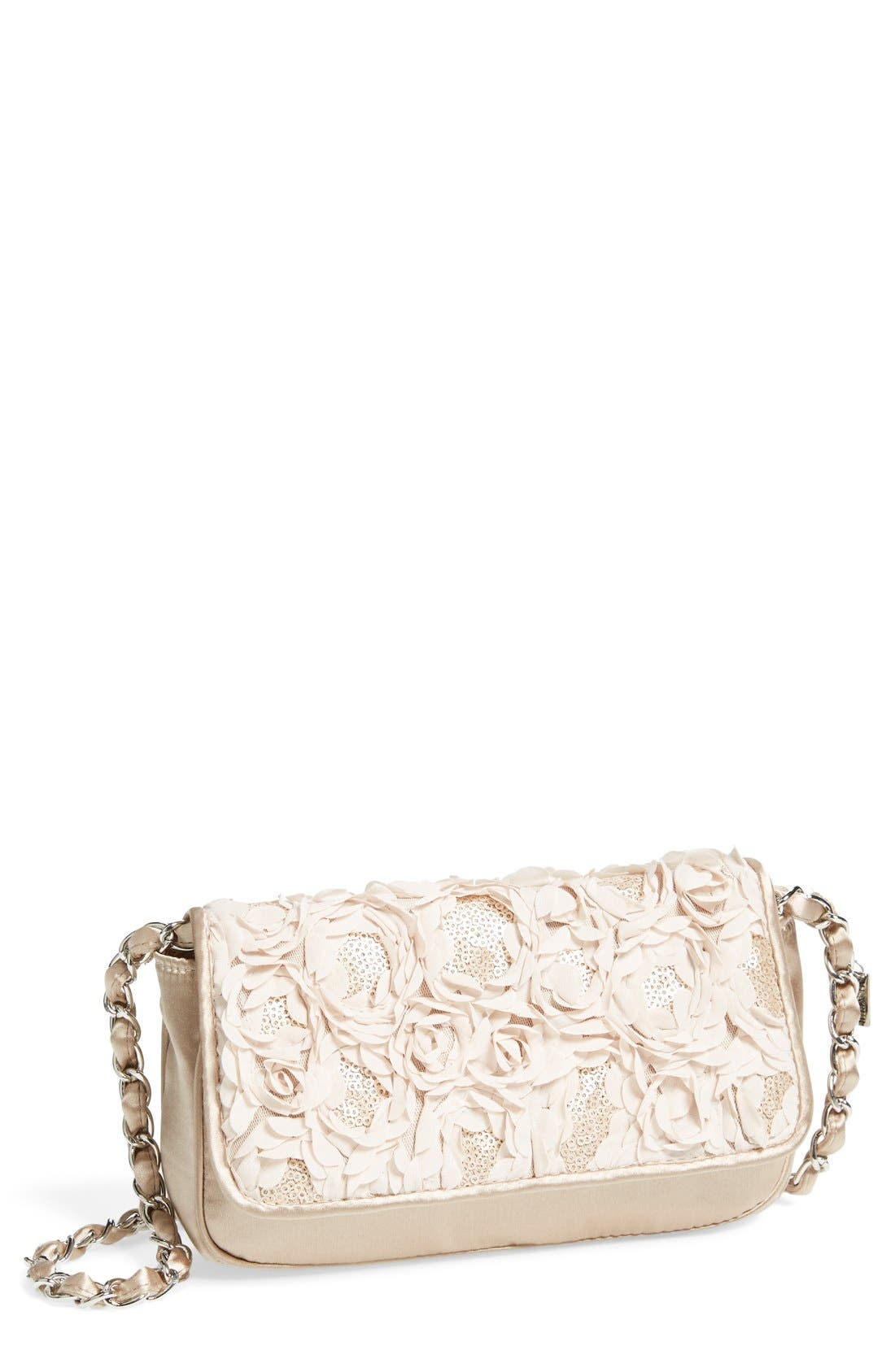 'Lassus' Satin Clutch,                             Main thumbnail 1, color,                             Stone