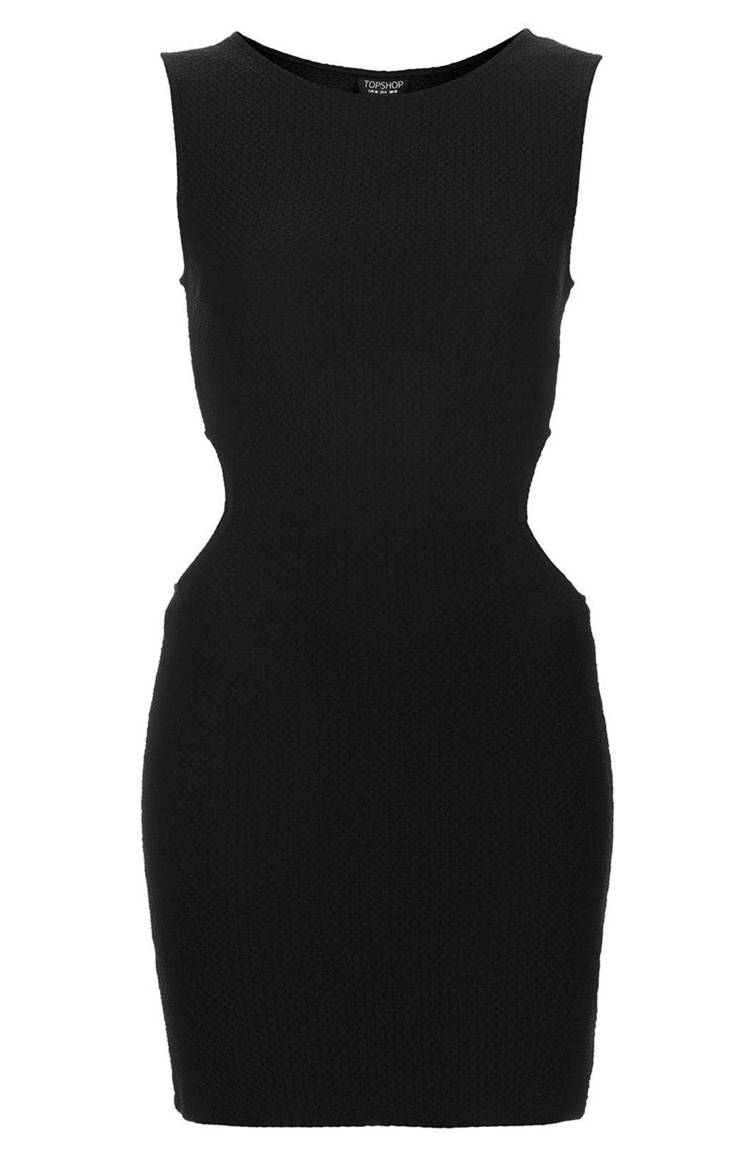 Alternate Image 3  - Topshop Textured Cutout Body-Con Dress