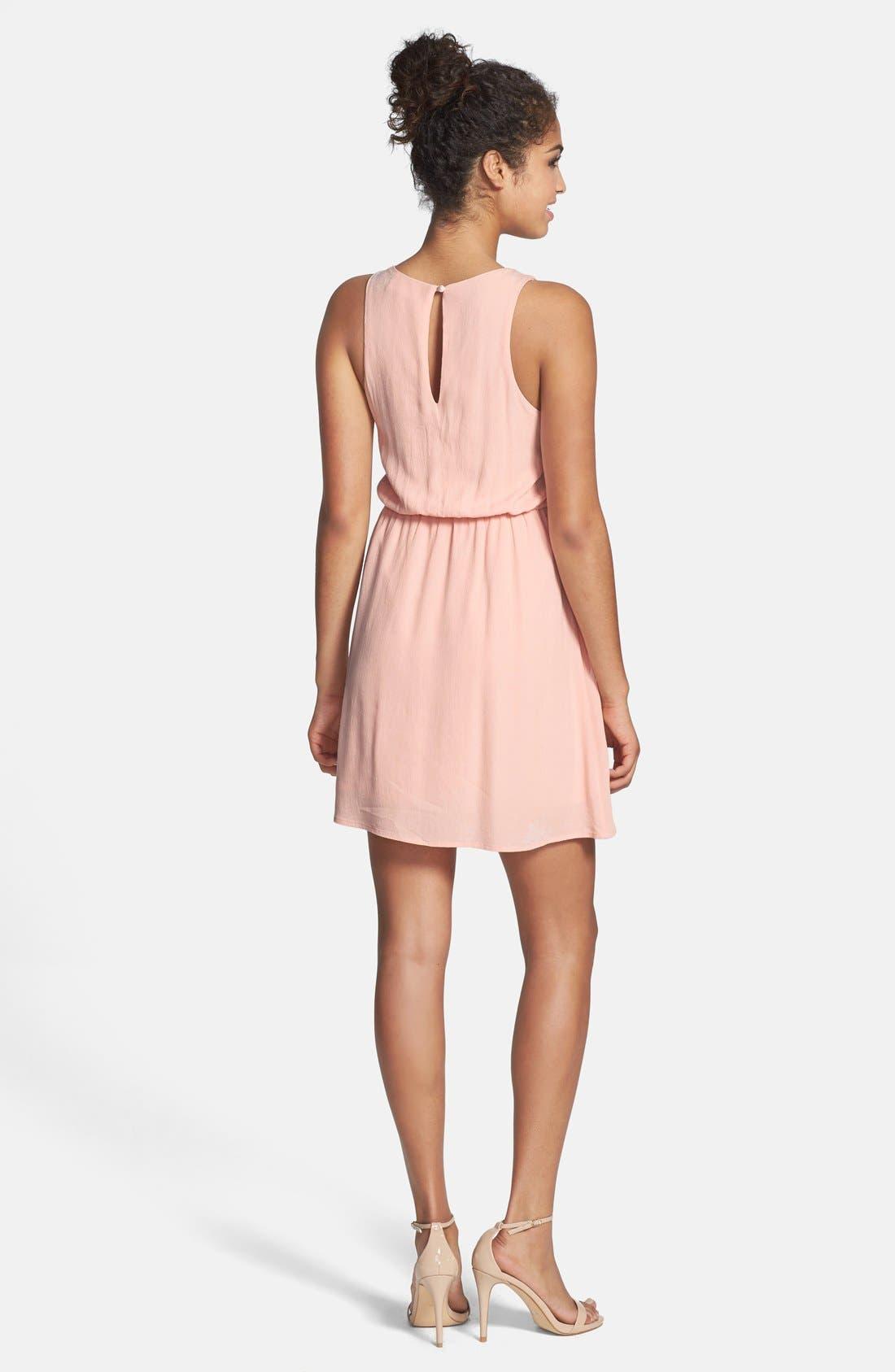 Alternate Image 2  - Everly Embellished Party Dress (Juniors)