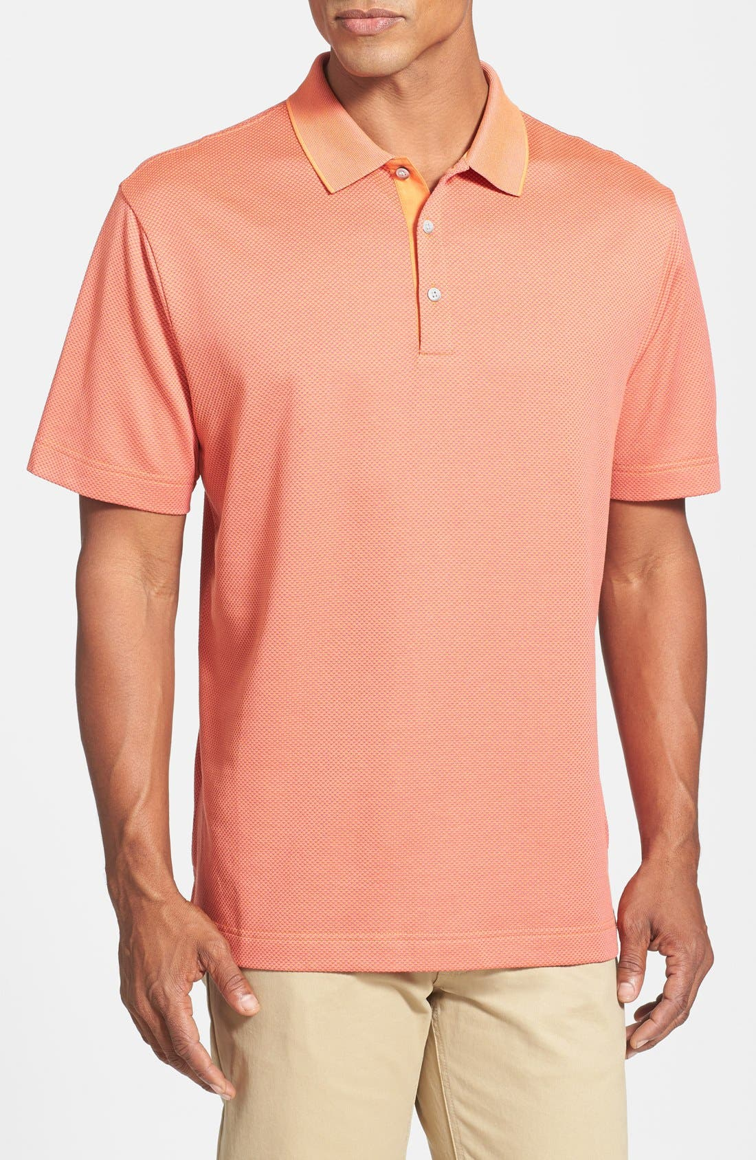 Alternate Image 1 Selected - Cutter & Buck 'Nano' Wrinkle Free DryTec Golf Polo (Big & Tall)