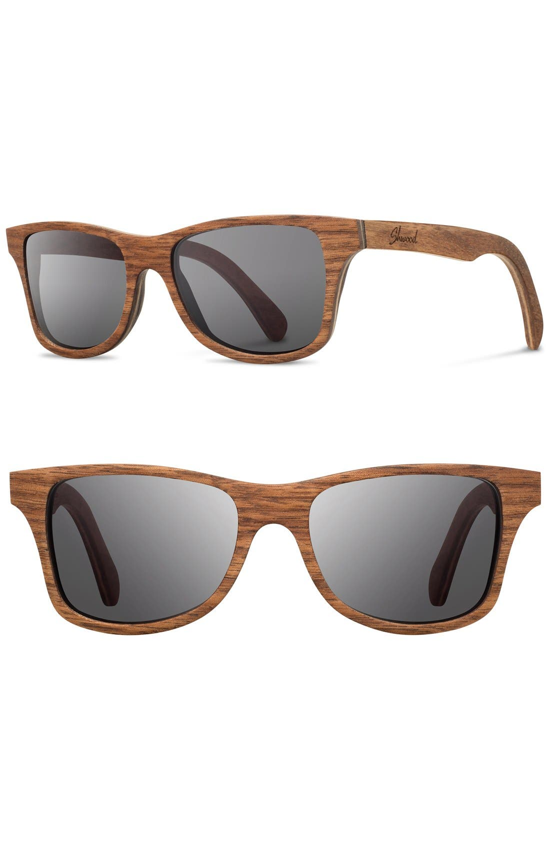 'Canby' 54mm Wood Sunglasses,                             Main thumbnail 1, color,                             Walnut