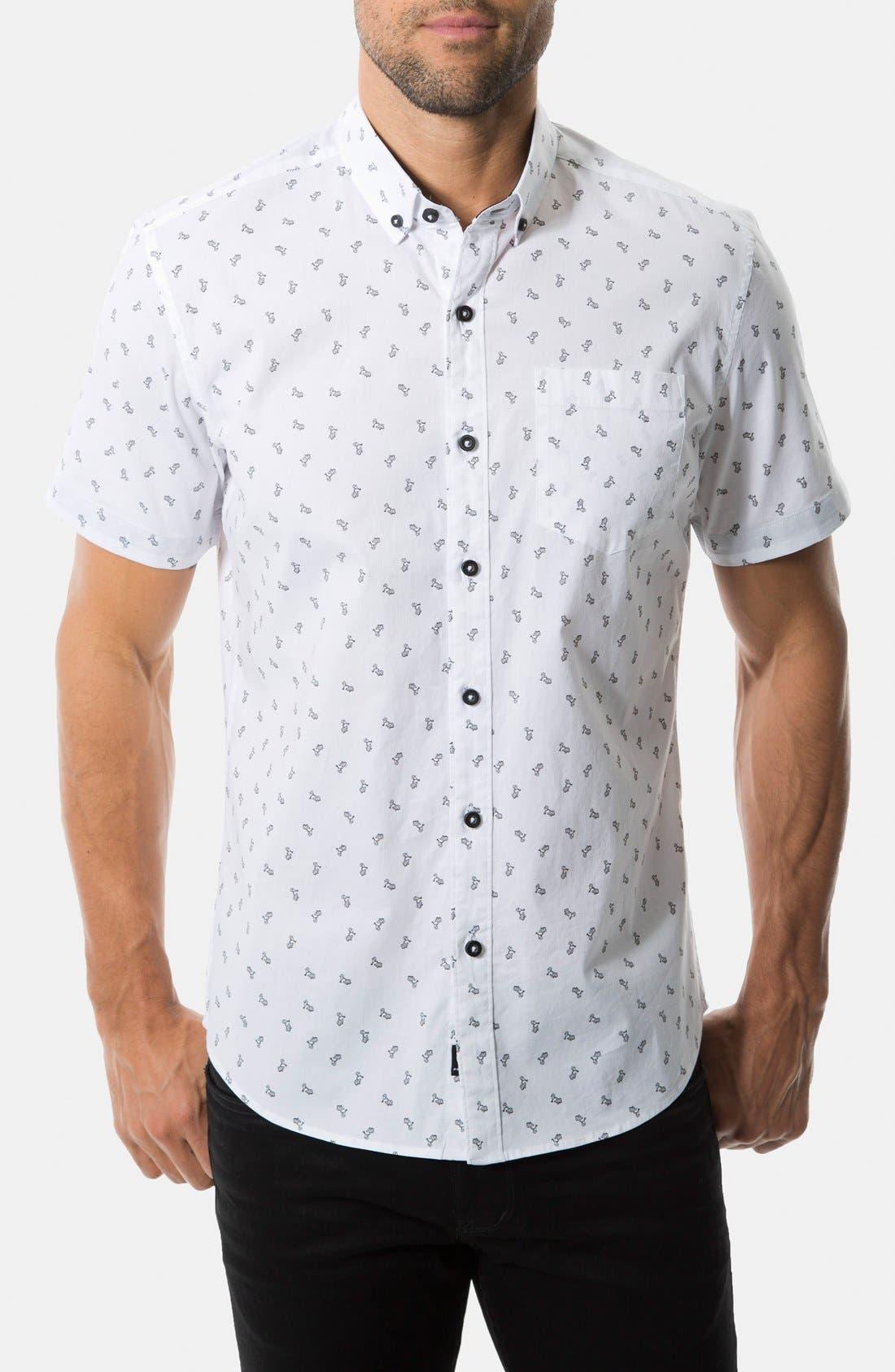 Main Image - 7 Diamonds 'Keep Moving' Short Sleeve Print Sport Shirt