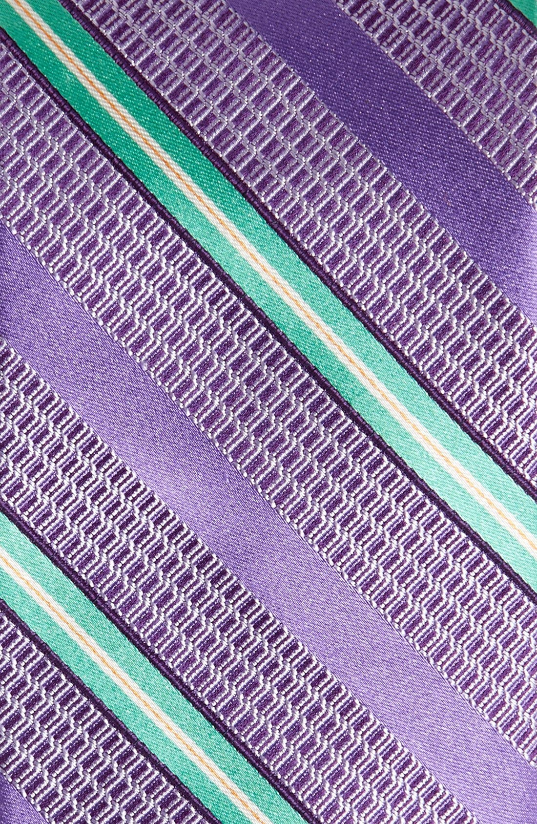 Woven Silk Tie,                             Alternate thumbnail 2, color,                             Purple