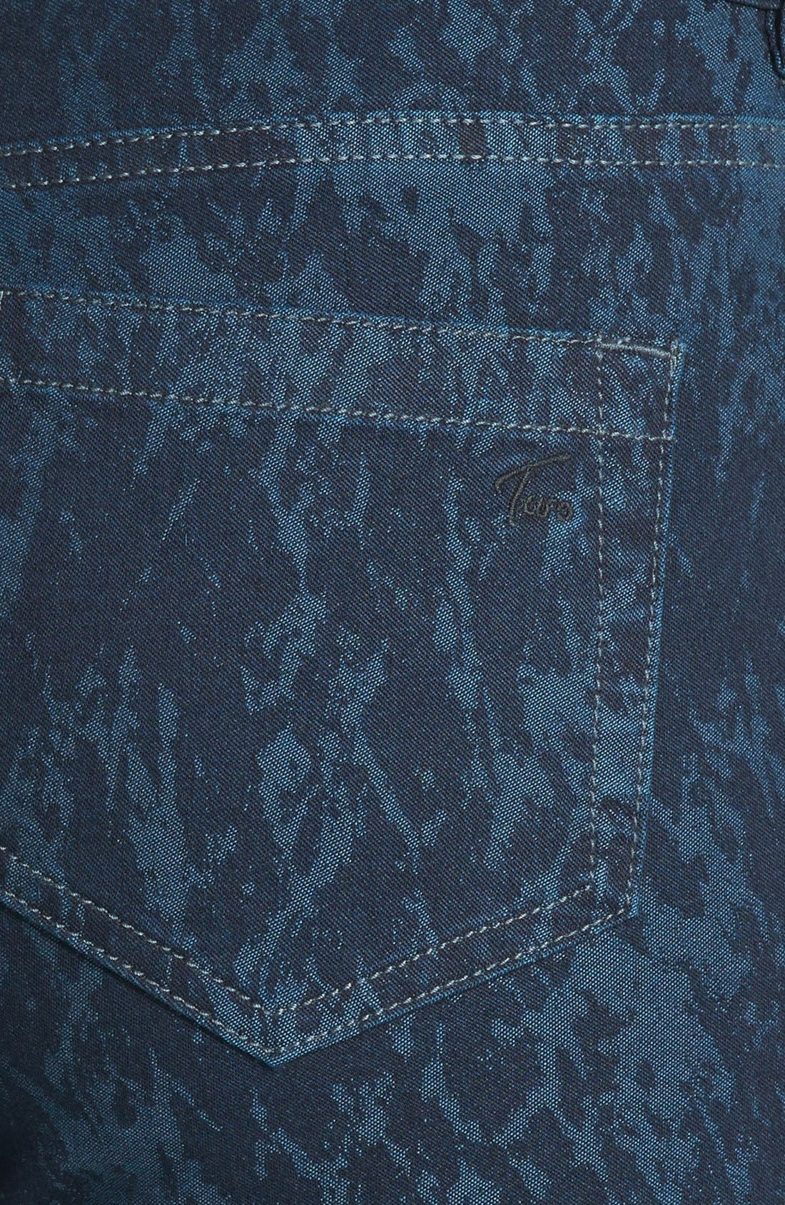 Alternate Image 3  - Two by Vince Camuto 'Paint Splattered' Print Skinny Jeans (Blue Night)