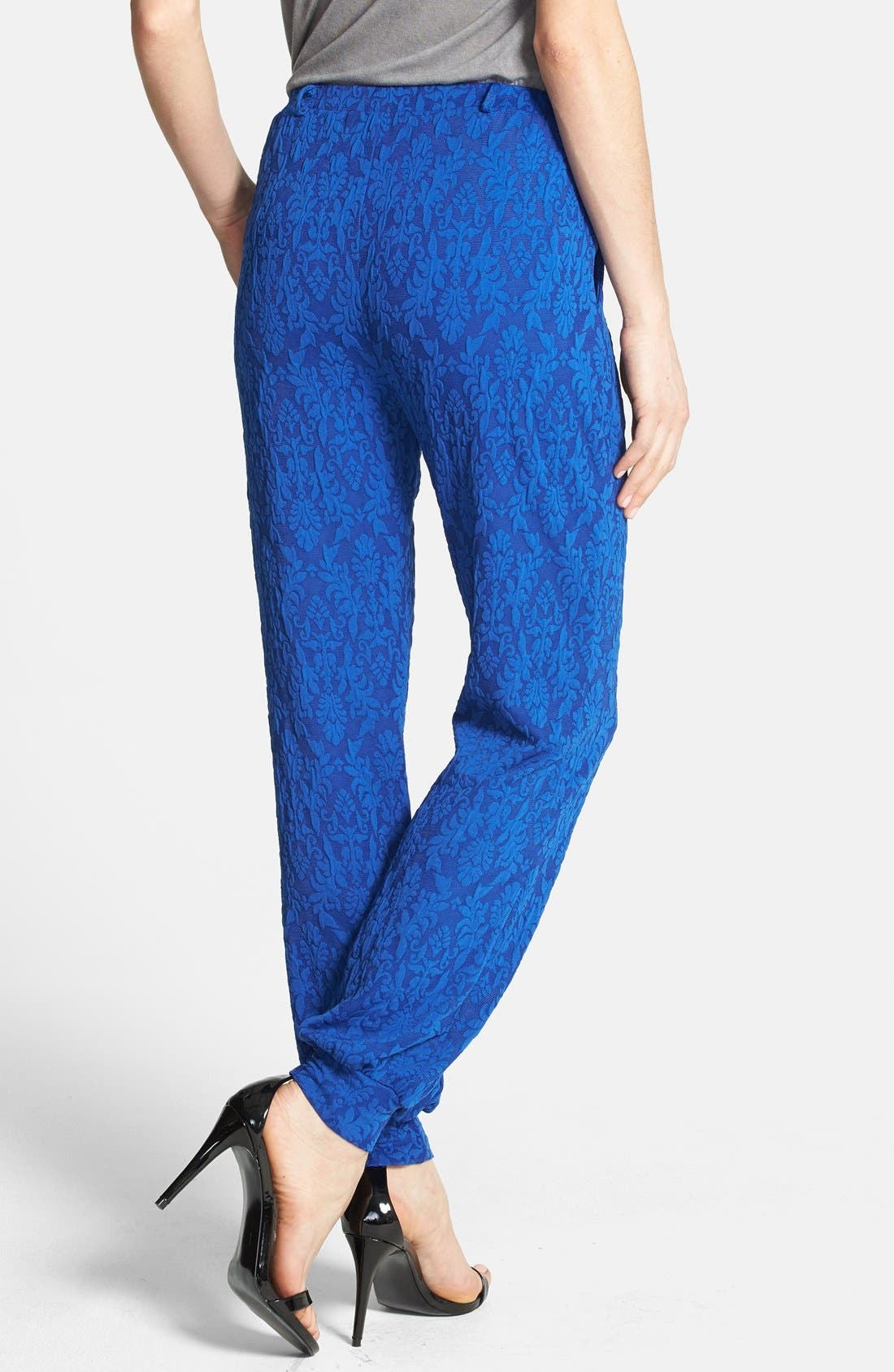 Alternate Image 2  - June & Hudson Lace Jogger Pants