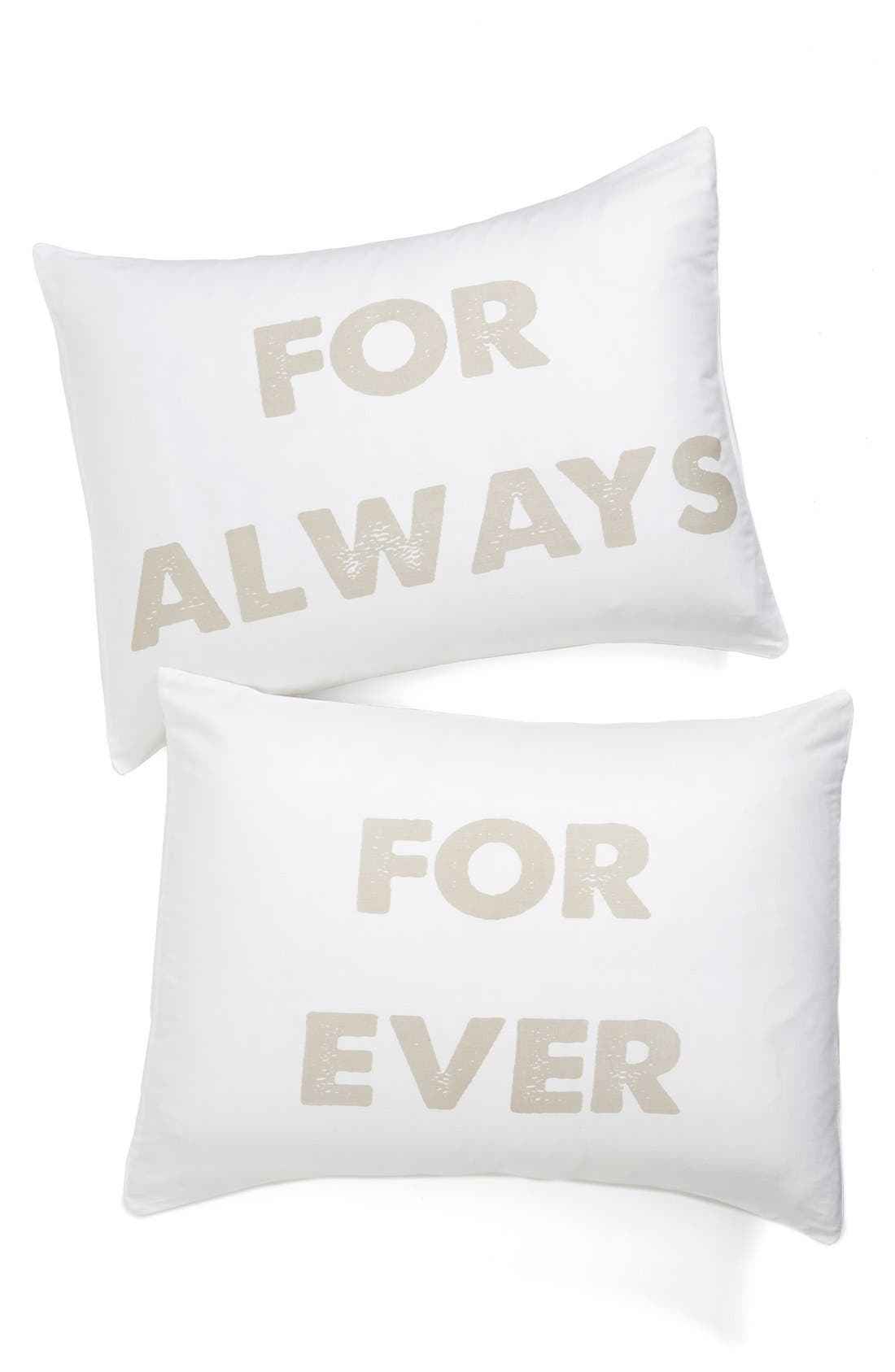Alternate Image 1 Selected - Levtex 'For Always/For Ever' Pillowcases (Set of 2)