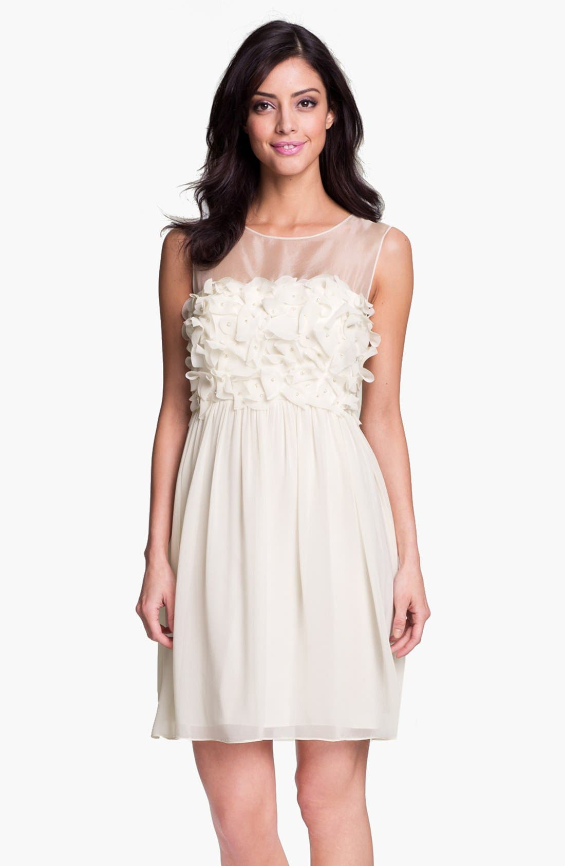 Alternate Image 1 Selected - Donna Morgan Embellished Ruffle Chiffon Dress