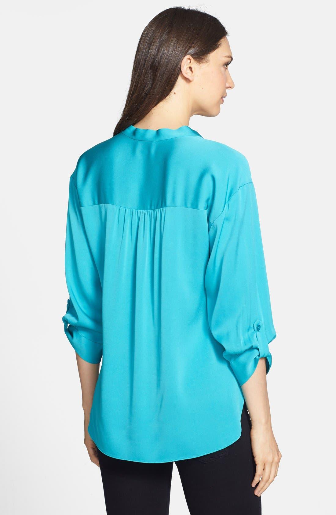 Alternate Image 2  - Milly 'Kataline' Stretch Silk Blouse
