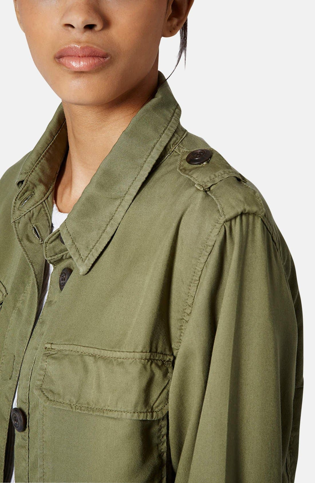 Alternate Image 4  - Topshop 'Rufus Shackett' Army Jacket