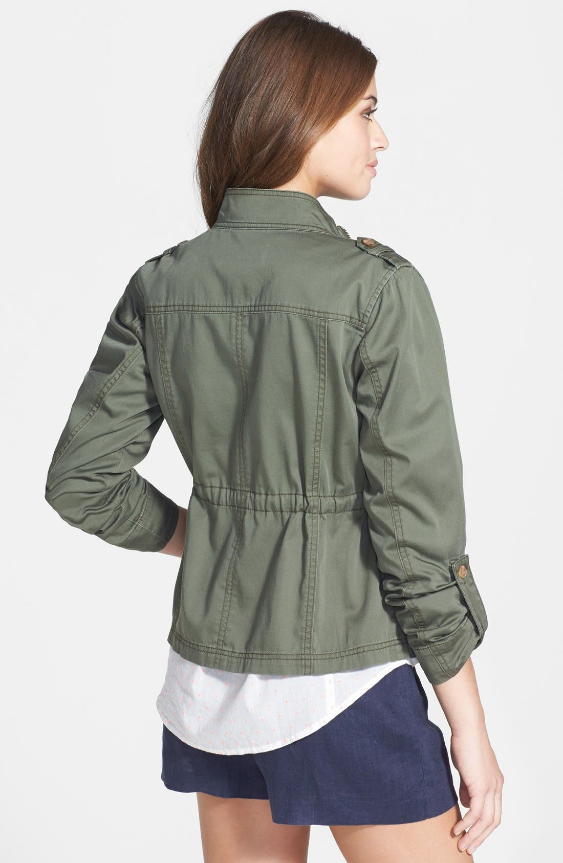 Alternate Image 2  - Caslon Roll Sleeve Utility Jacket