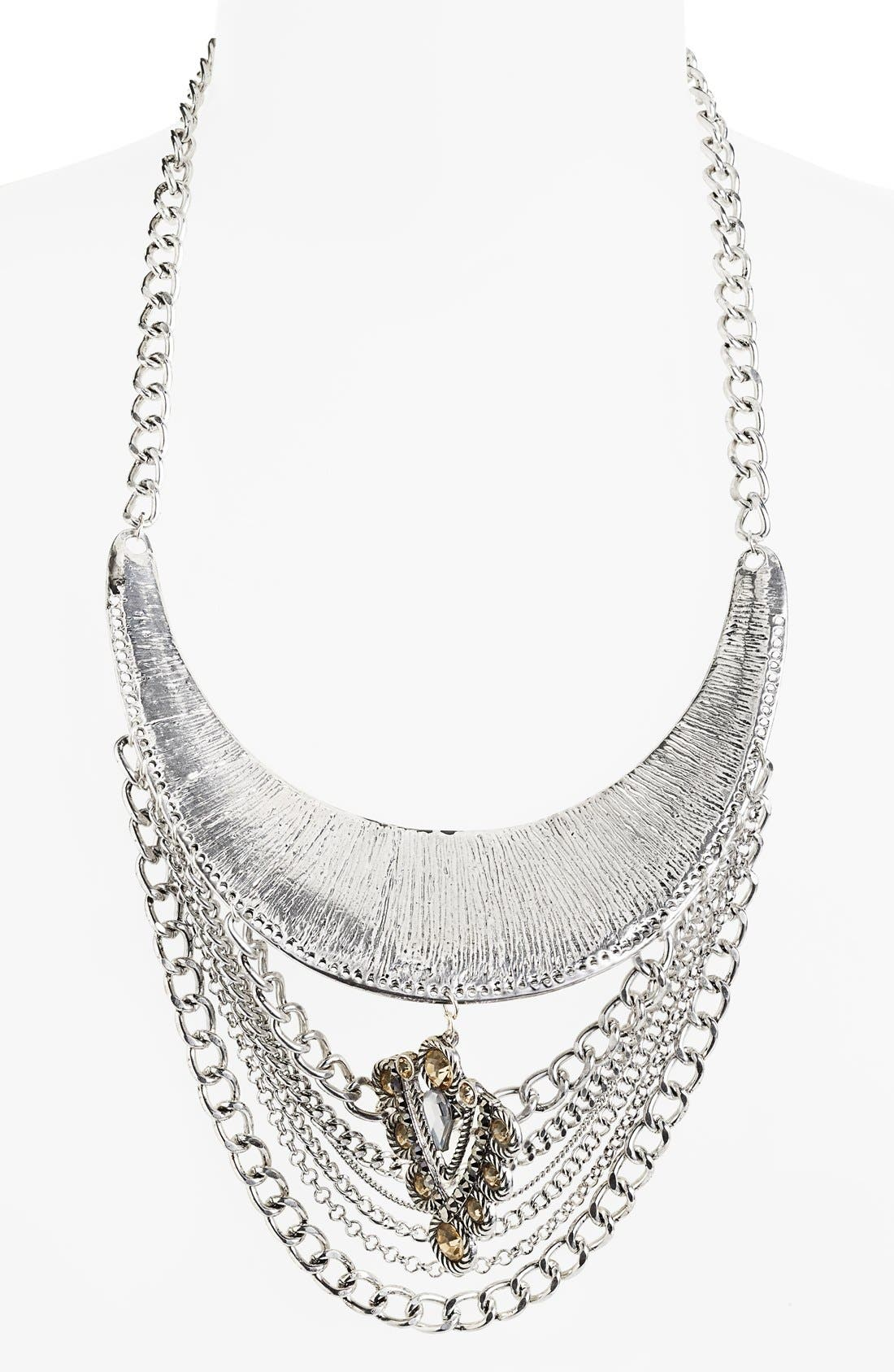 Alternate Image 2  - Leith Hammered Chain Necklace