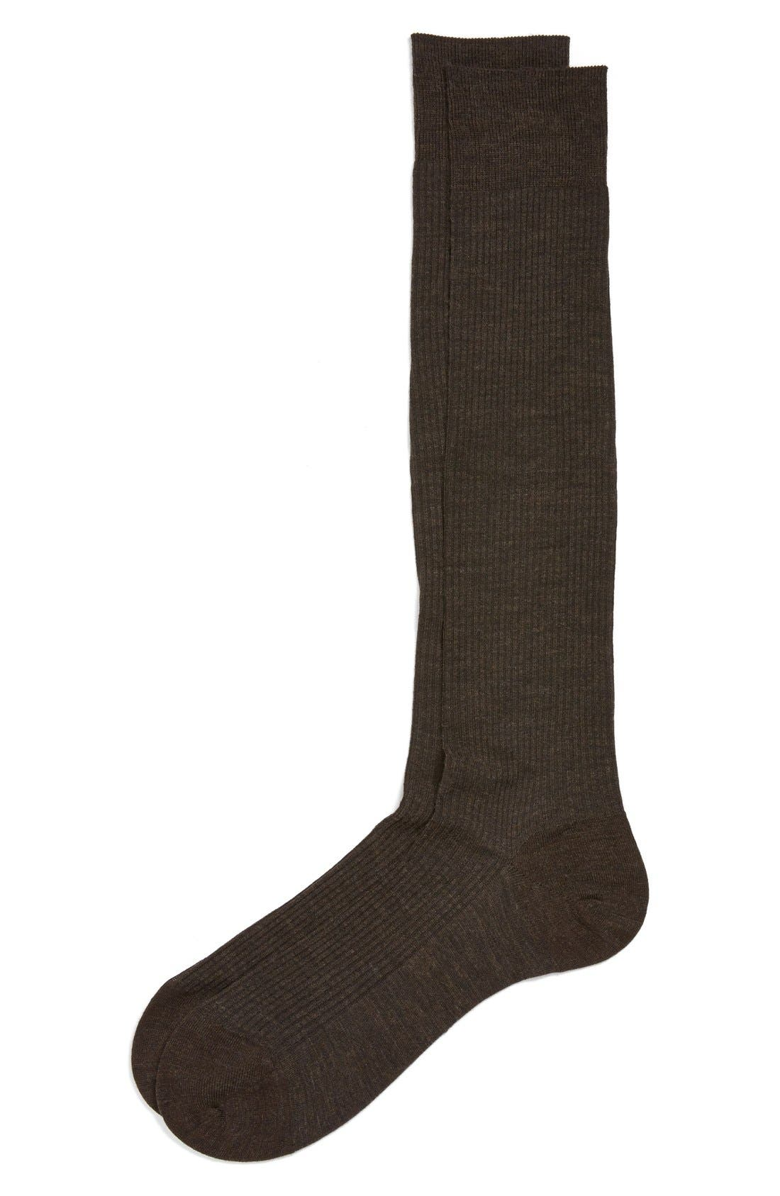 Main Image - Pantherella Fine Wool Blend Over the Calf Socks