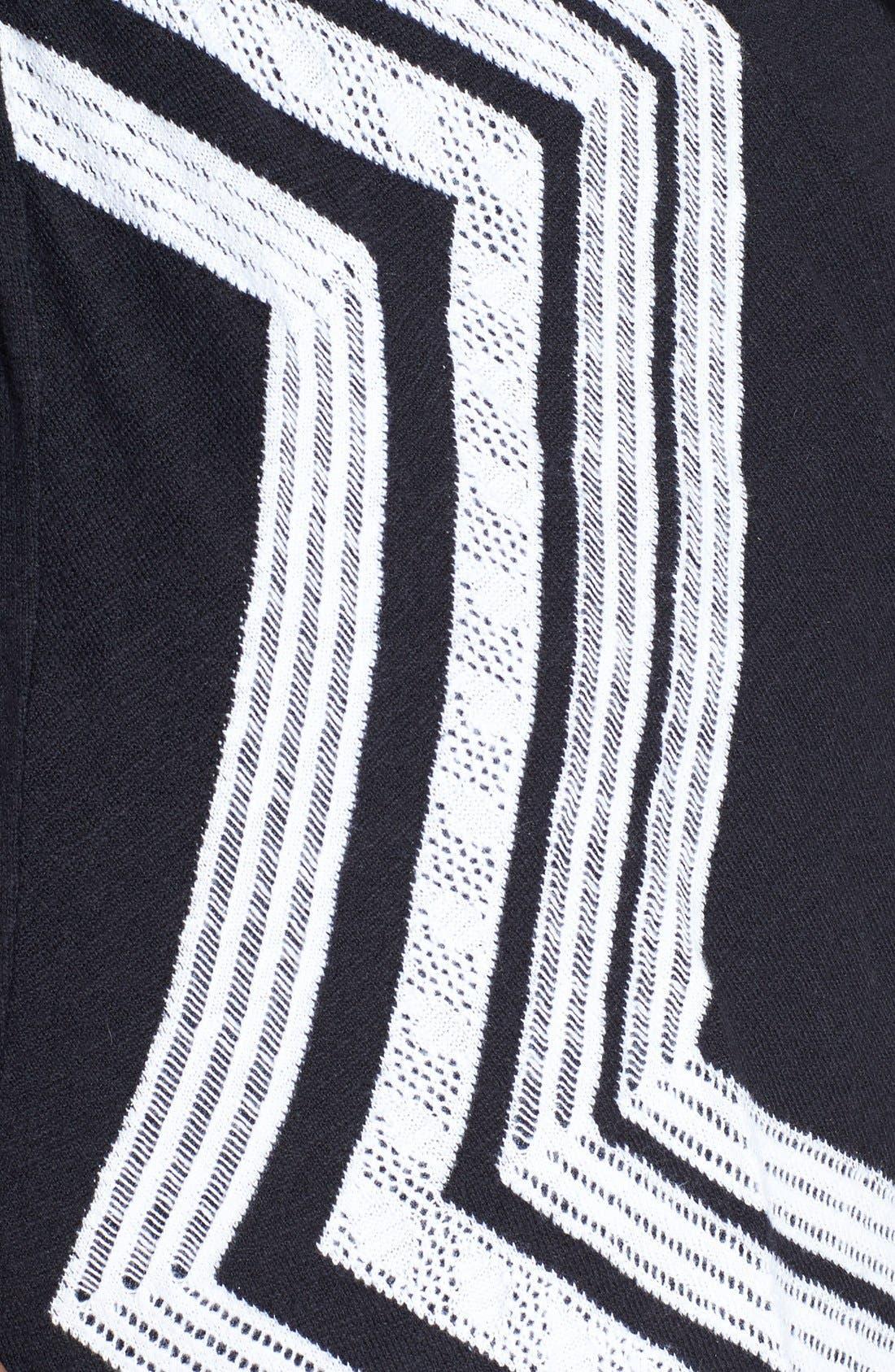 Alternate Image 3  - Sejour 'Telstar Jacquard' V-Neck Pullover (Plus Size)