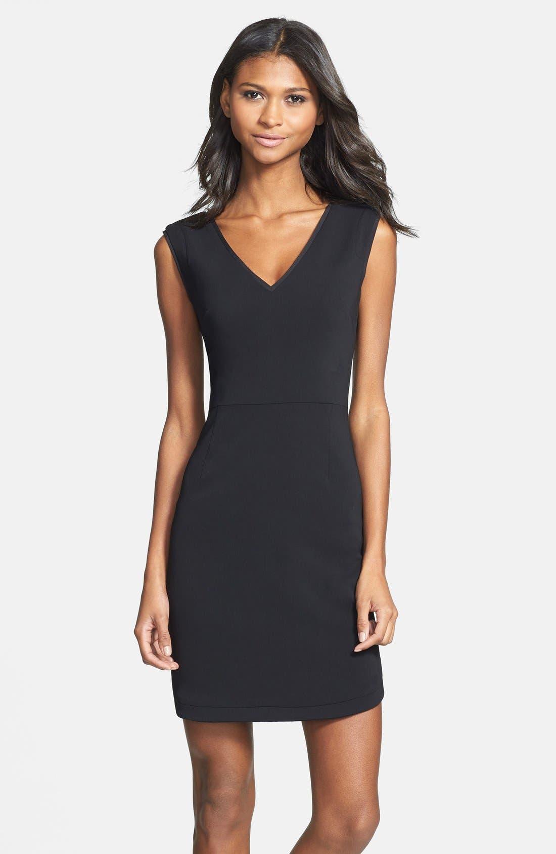 Alternate Image 1 Selected - Ivy & Blu V-Back Sheath Dress