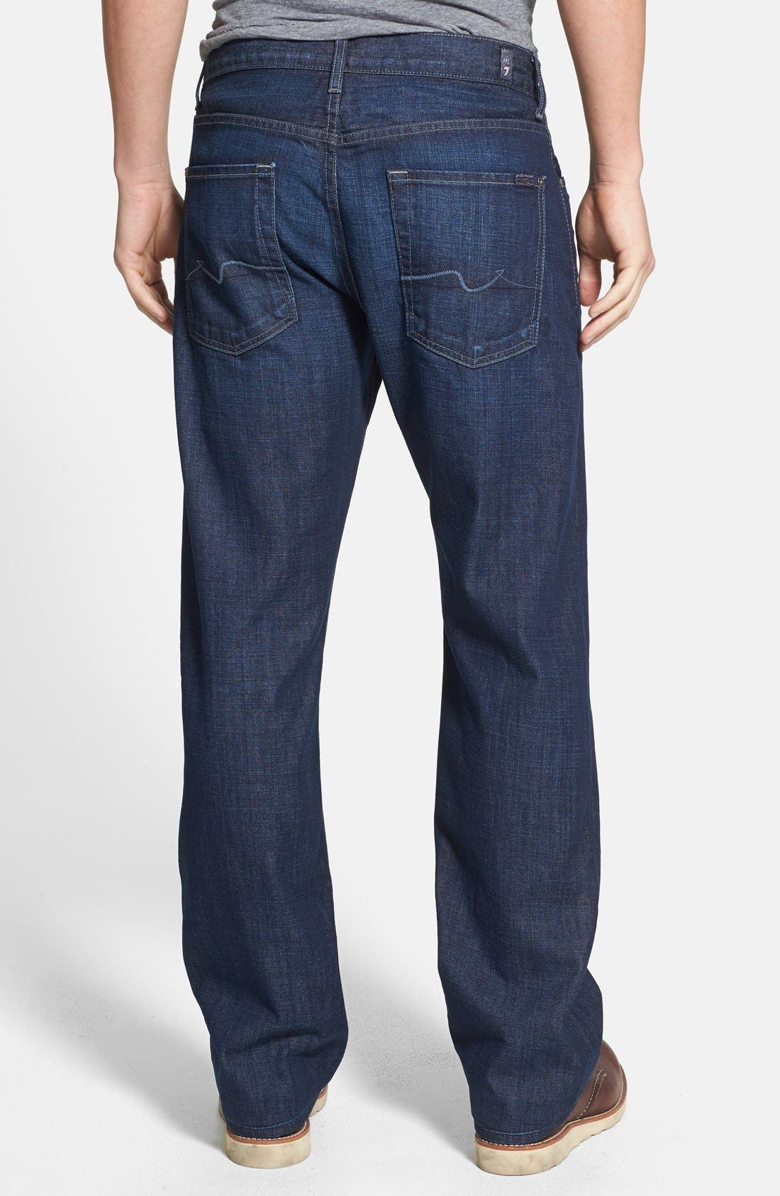 Alternate Image 2  - 7 For All Mankind® 'Austyn' Relaxed Straight Leg Jeans (Sunlit Waters)