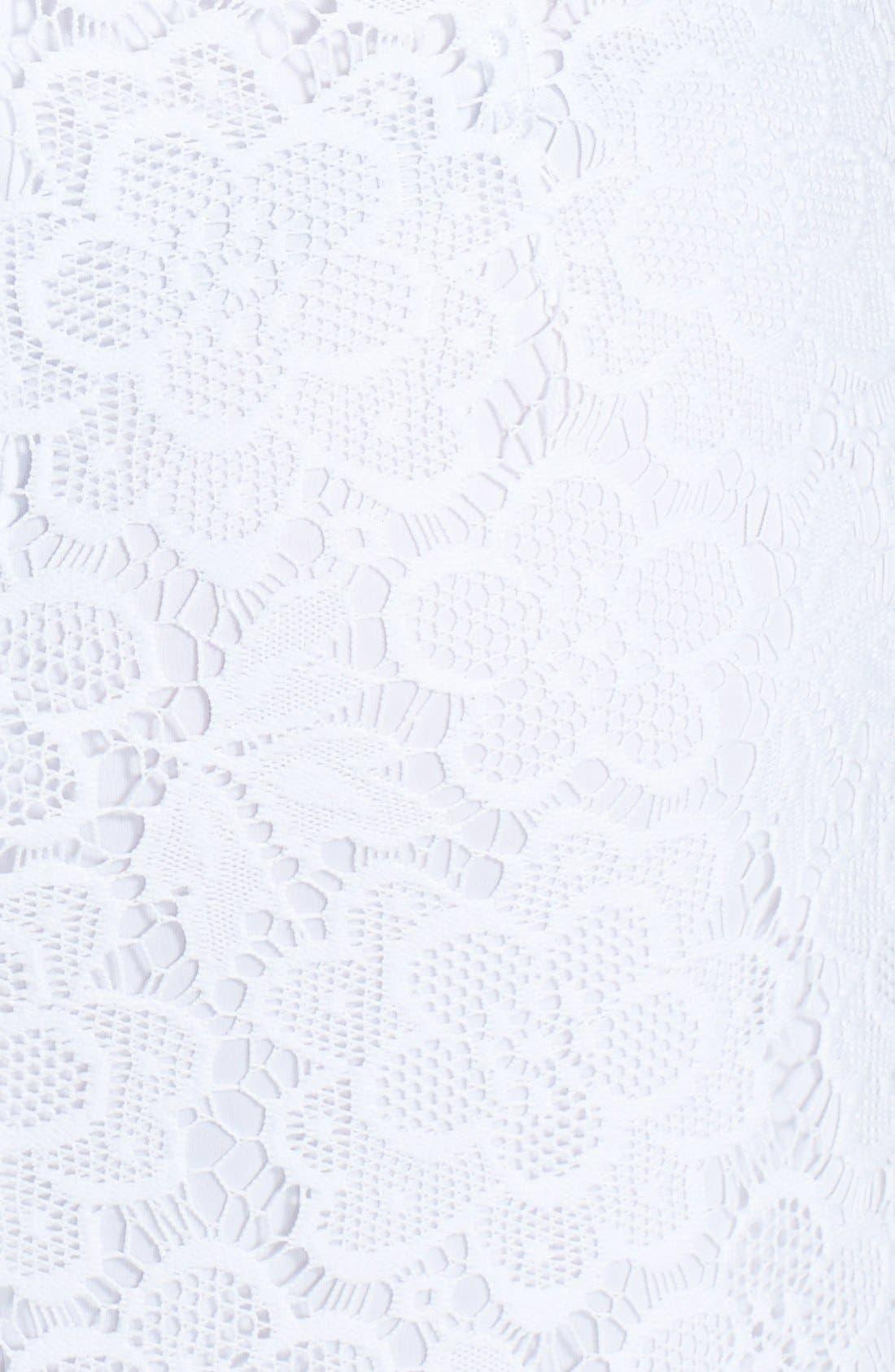 Alternate Image 3  - London Times Sleeveless Lace Sheath Dress (Plus Size)