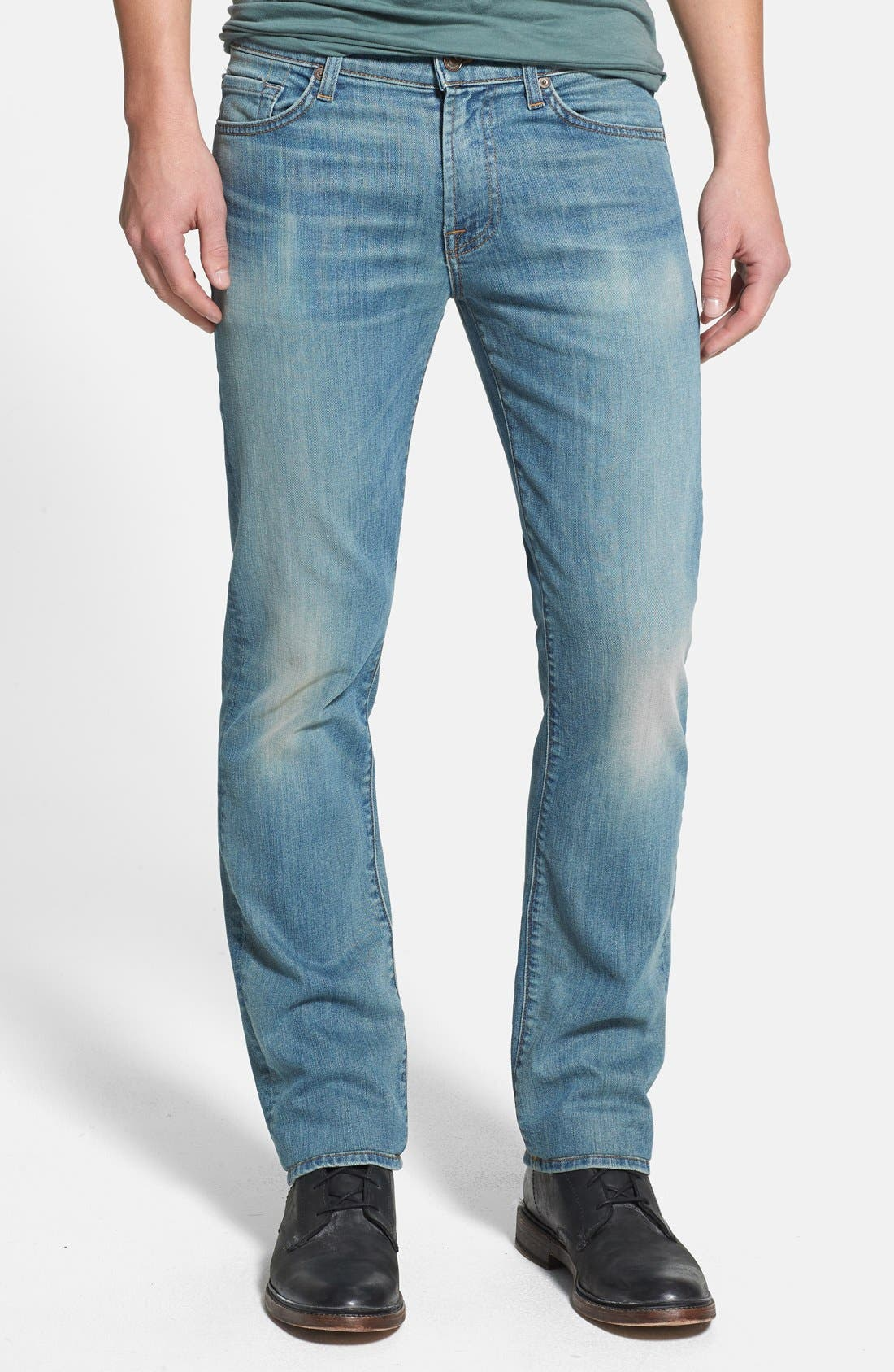 Alternate Image 1 Selected - 7 For All Mankind® 'Slimmy' Slim Straight Leg Jeans (Authentic Vintage)