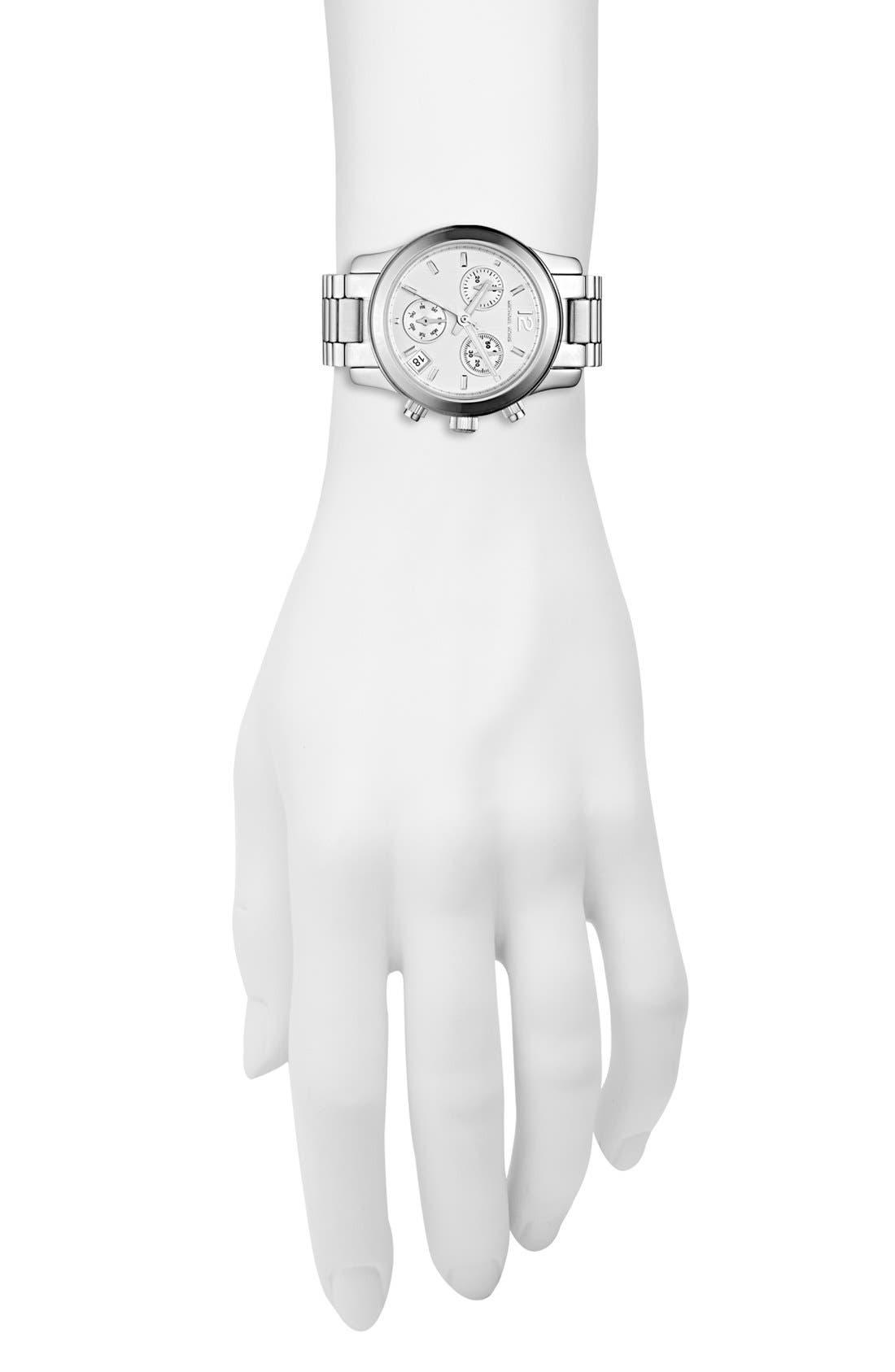 Alternate Image 2  - Michael Kors 'Mini Runway' Chronograph Bracelet Watch, 33mm