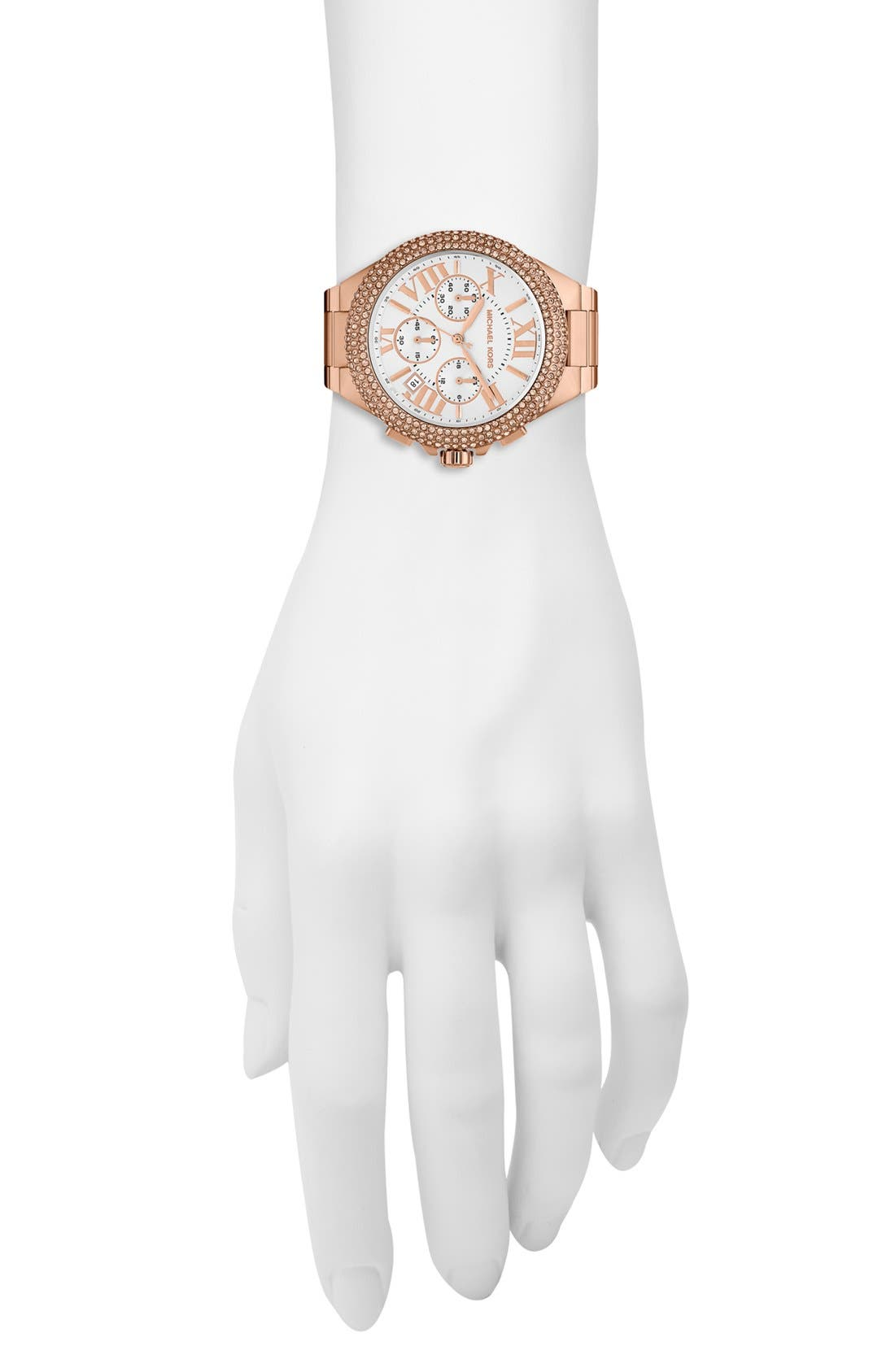 Alternate Image 2  - Michael Kors 'Camille' Chronograph Bracelet Watch, 43mm