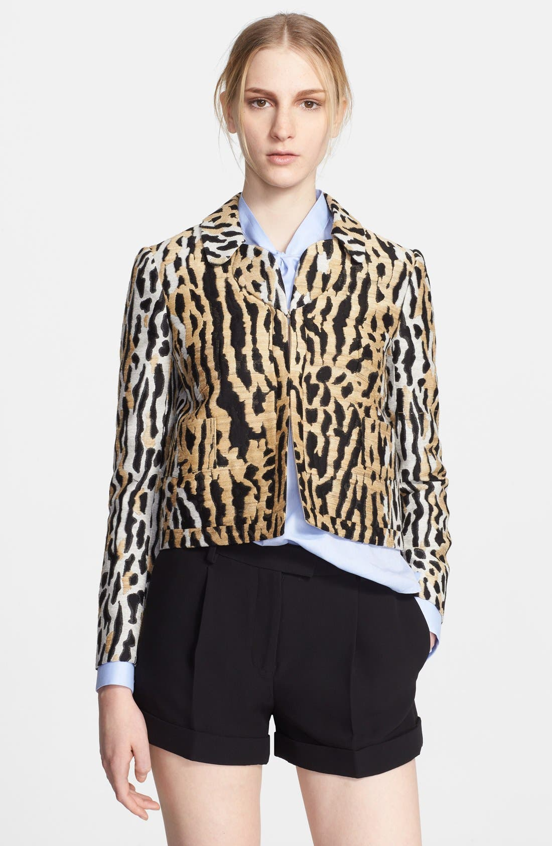 Alternate Image 1 Selected - Valentino Ocelot Brocade Jacket