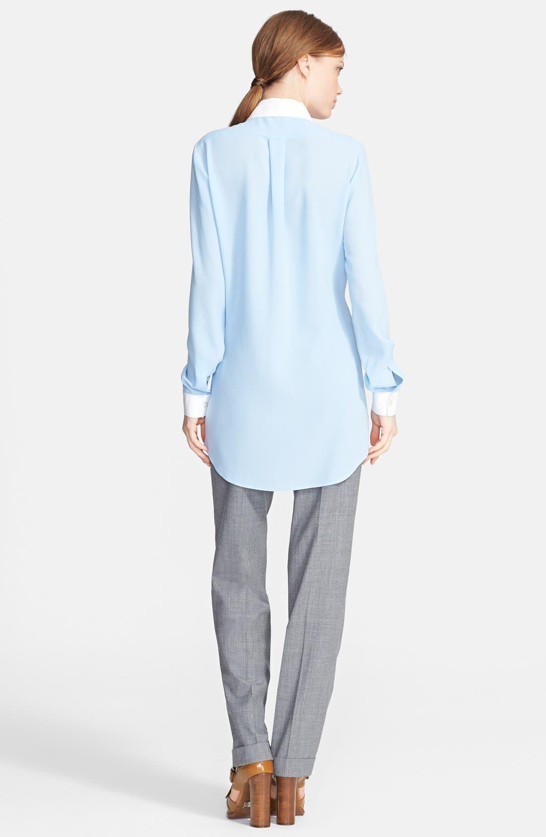 Alternate Image 2  - Michael Kors Long Silk Georgette Shirt