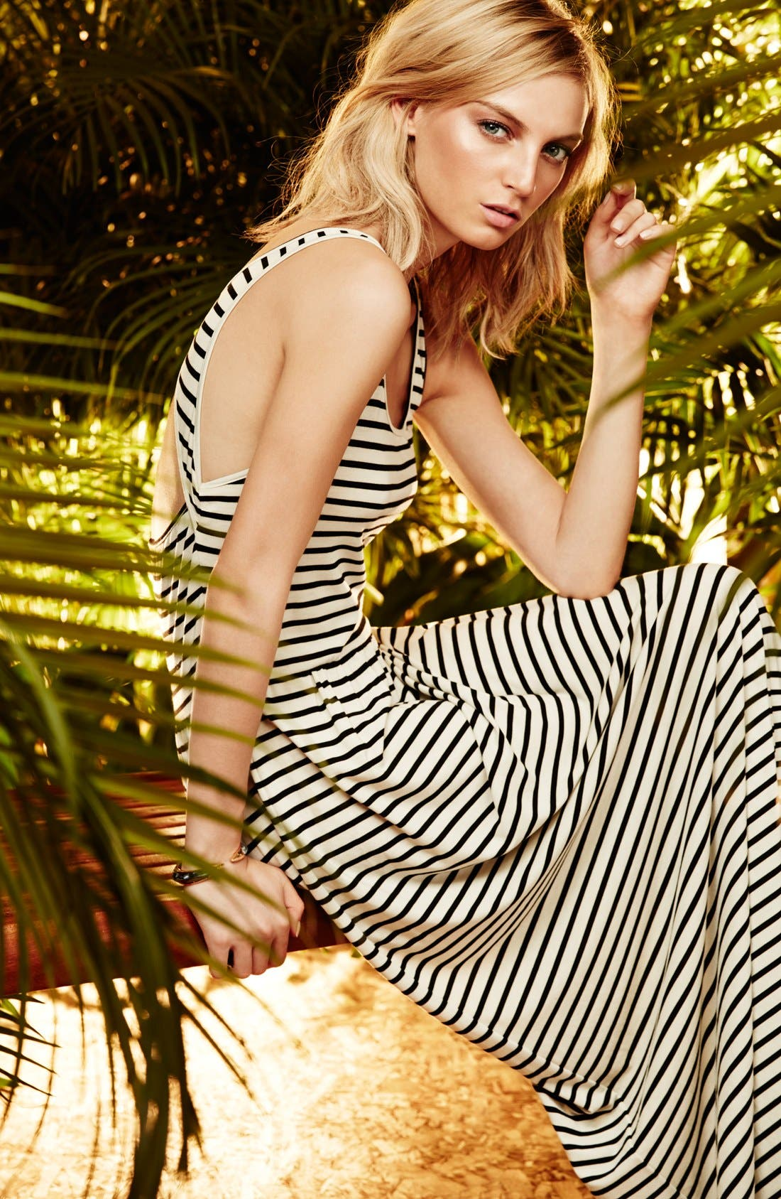 Alternate Image 4  - Two by Vince Camuto 'Rising Stripe' Back Cutout Sleeveless Maxi Dress