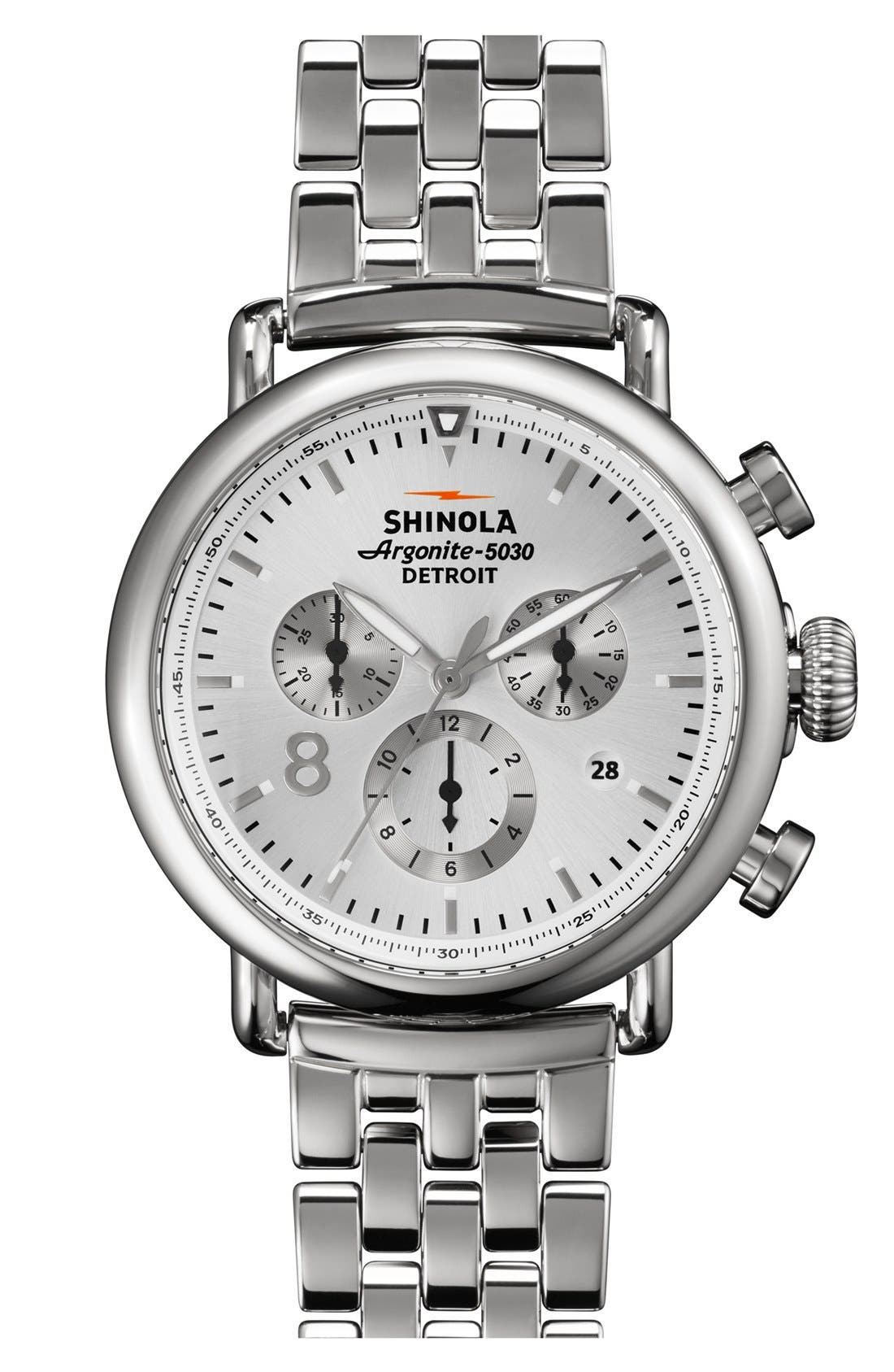 Main Image - Shinola 'The Runwell Contrast Chrono' Bracelet Watch, 41mm