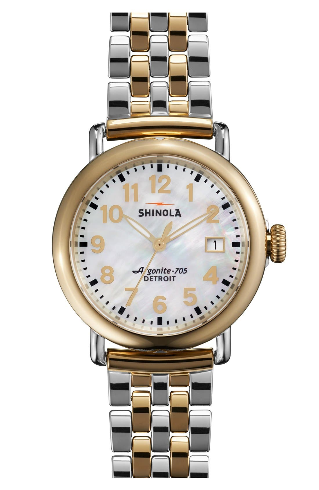 'The Runwell' Bracelet Watch, 36mm,                         Main,                         color, Gold/ Silver
