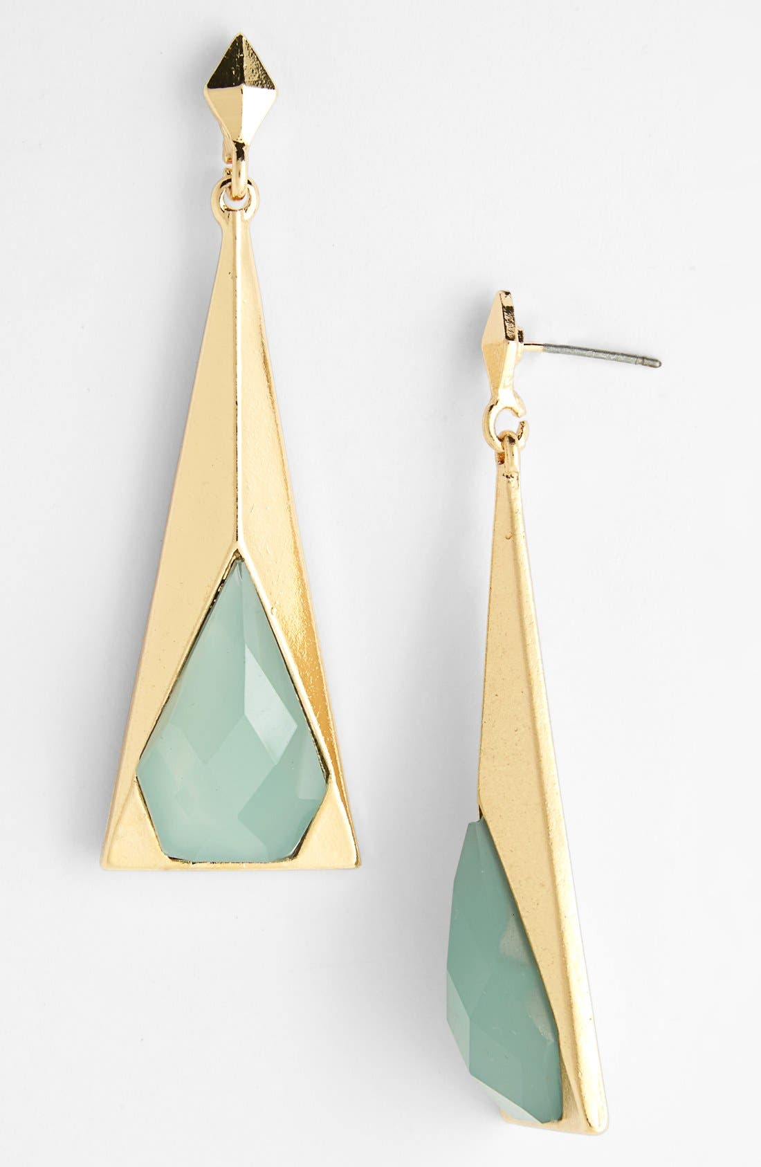Alternate Image 1 Selected - Guinevere Pyramid Drop Earrings