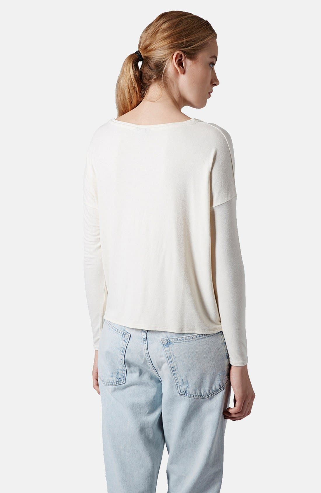 Alternate Image 2  - Topshop Long Sleeve Crepe Top