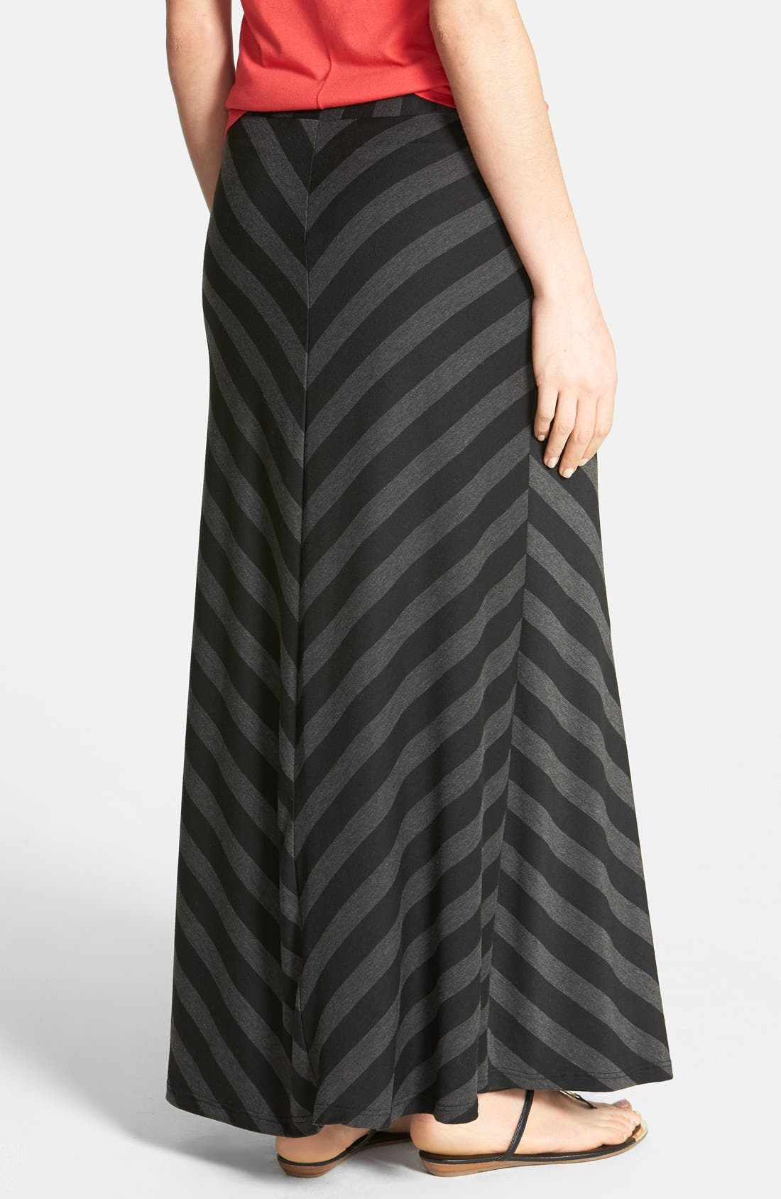 Alternate Image 2  - Everleigh Mitered Stripe Maxi Skirt