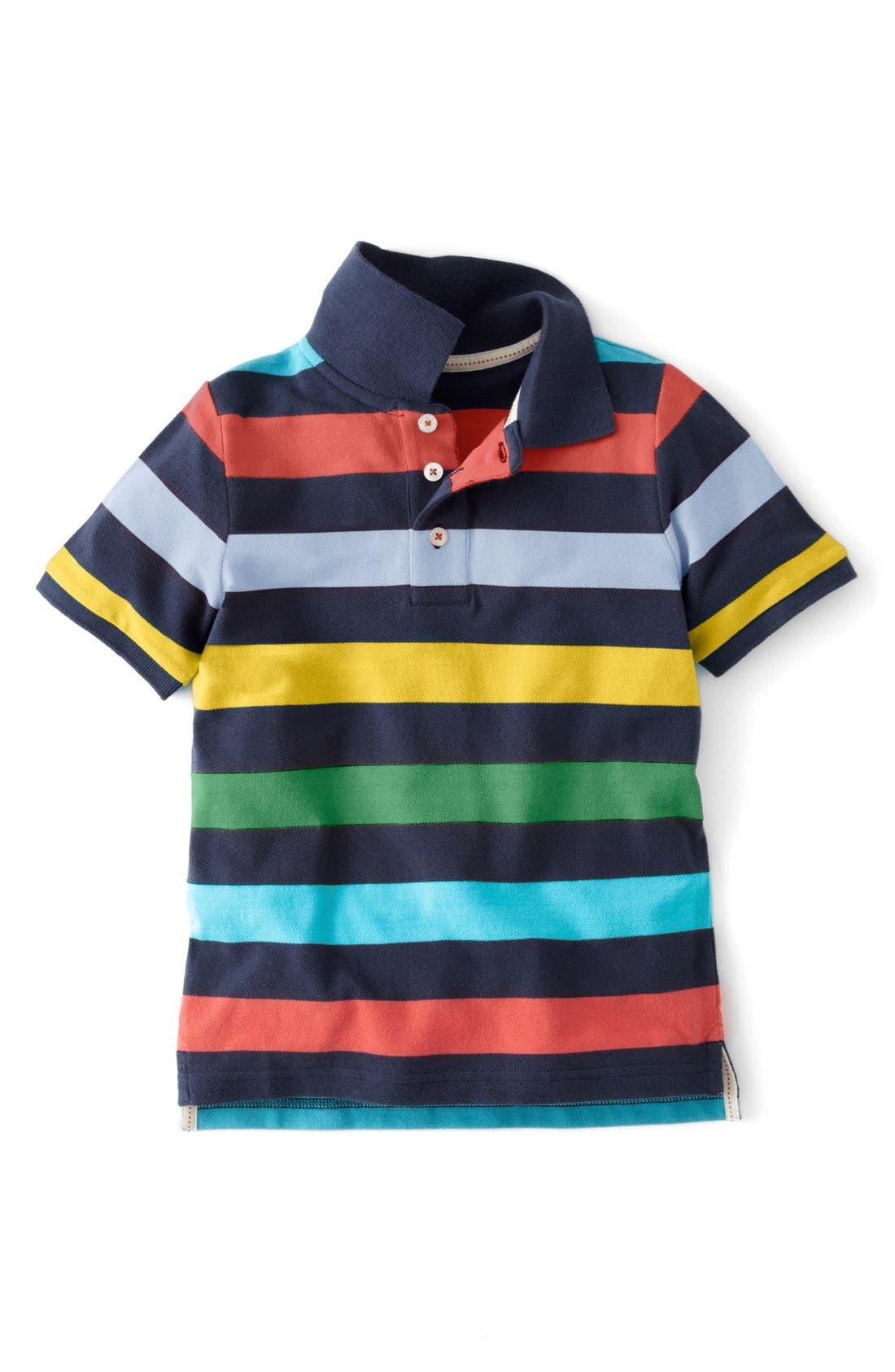 Alternate Image 1 Selected - Mini Boden Pique Polo (Toddler Boys, Little Boys & Big Boys)