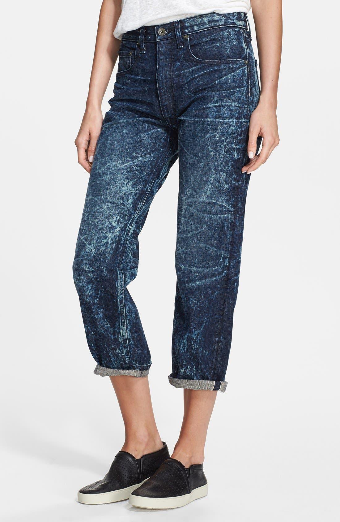 Main Image - rag & bone/JEAN 'Marilyn' Crop Jeans (Acid)