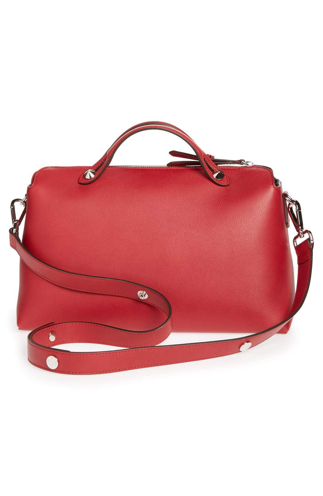 Alternate Image 4  - Fendi 'Bauletto Grande' Leather Shoulder Bag