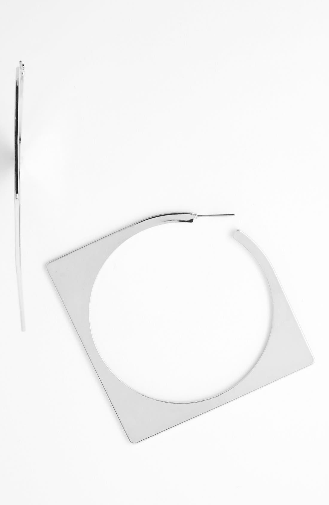 Alternate Image 1 Selected - Guinevere Square Hoop Earrings