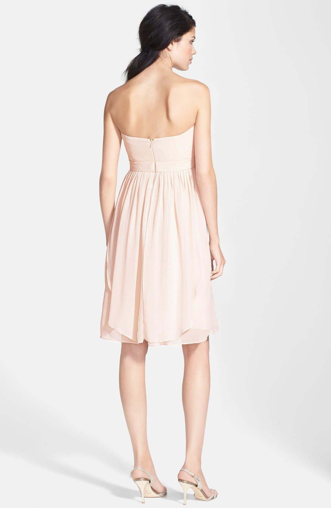 Alternate Image 2  - Jenny Yoo 'Keira' Convertible Strapless Chiffon Dress