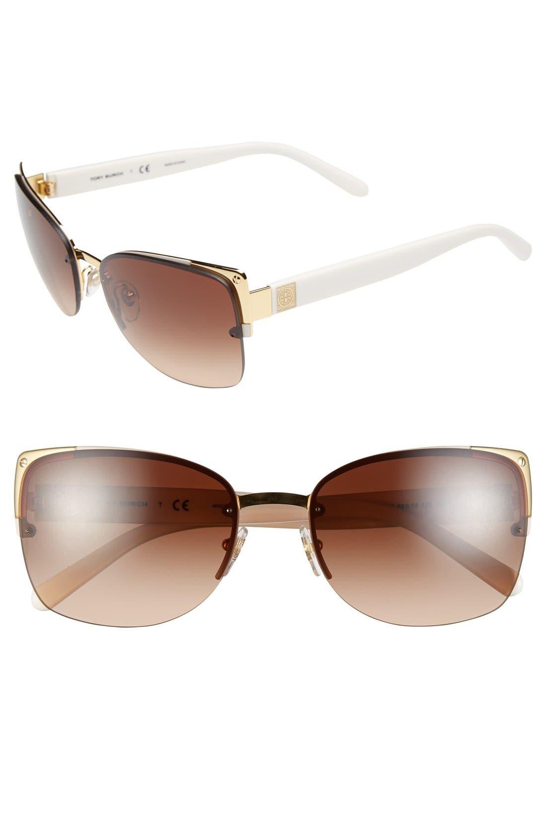 Alternate Image 1 Selected - Tory Burch 58mm Sunglasses